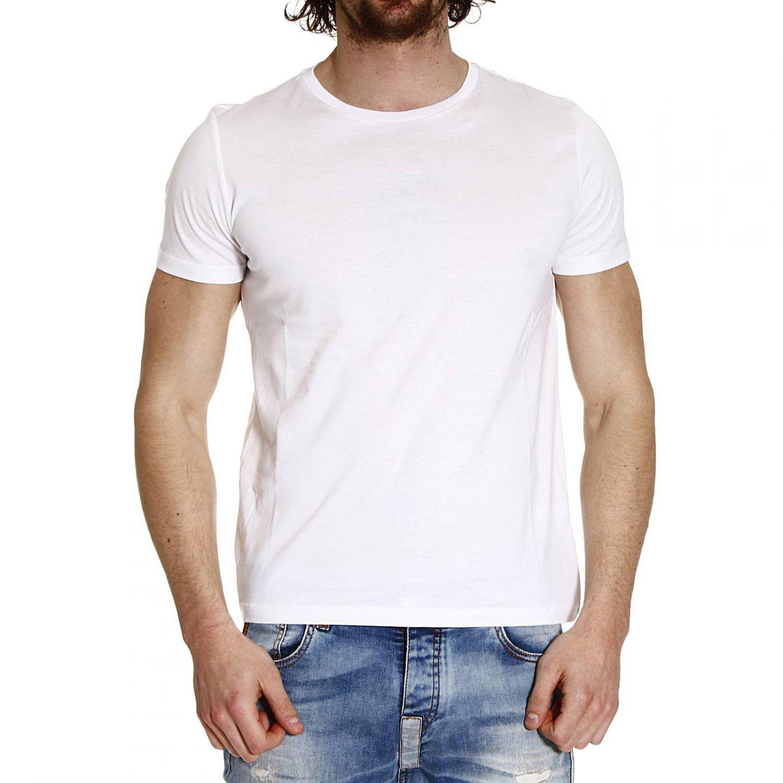 Lyst iceberg written behind printed half sleeve crew for Half sleeve t shirts for men