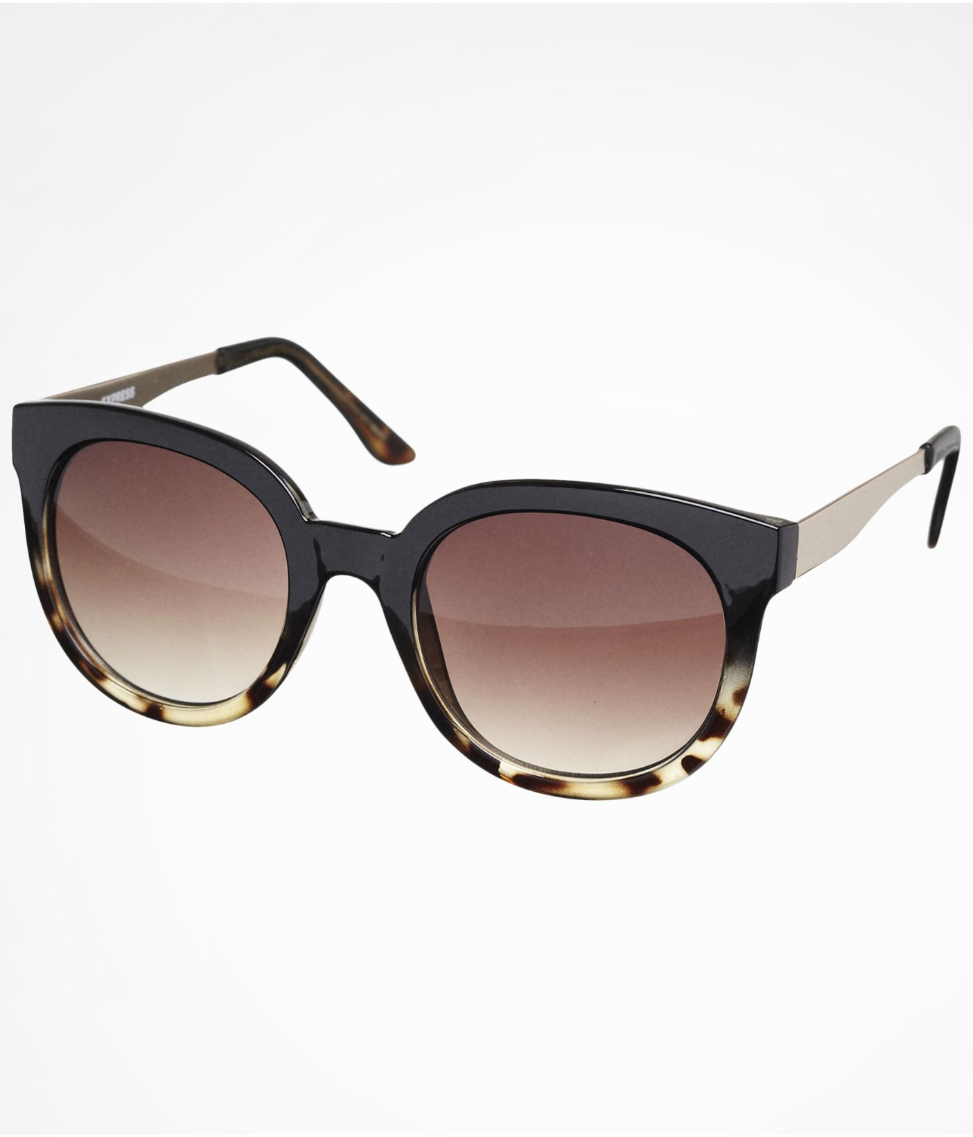 Express Sunglasses  express tortoise ombre round sunglasses in brown lyst