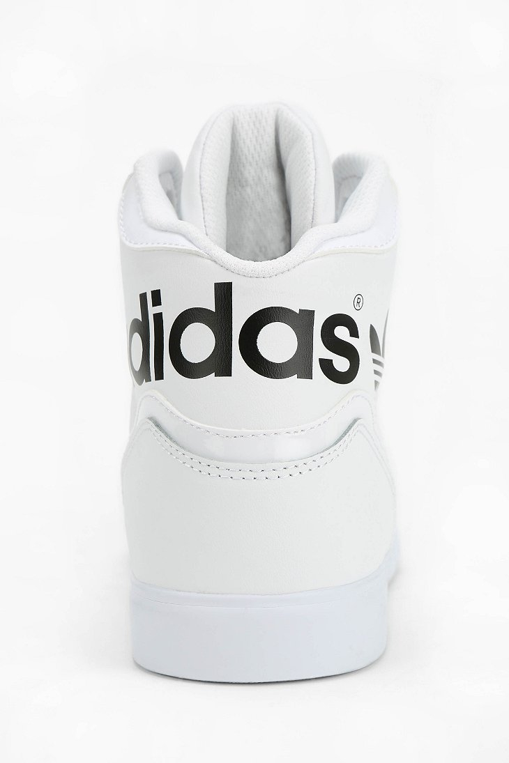 6add1d9566a adidas Originals Extaball Leather Hightop Sneaker in White - Lyst