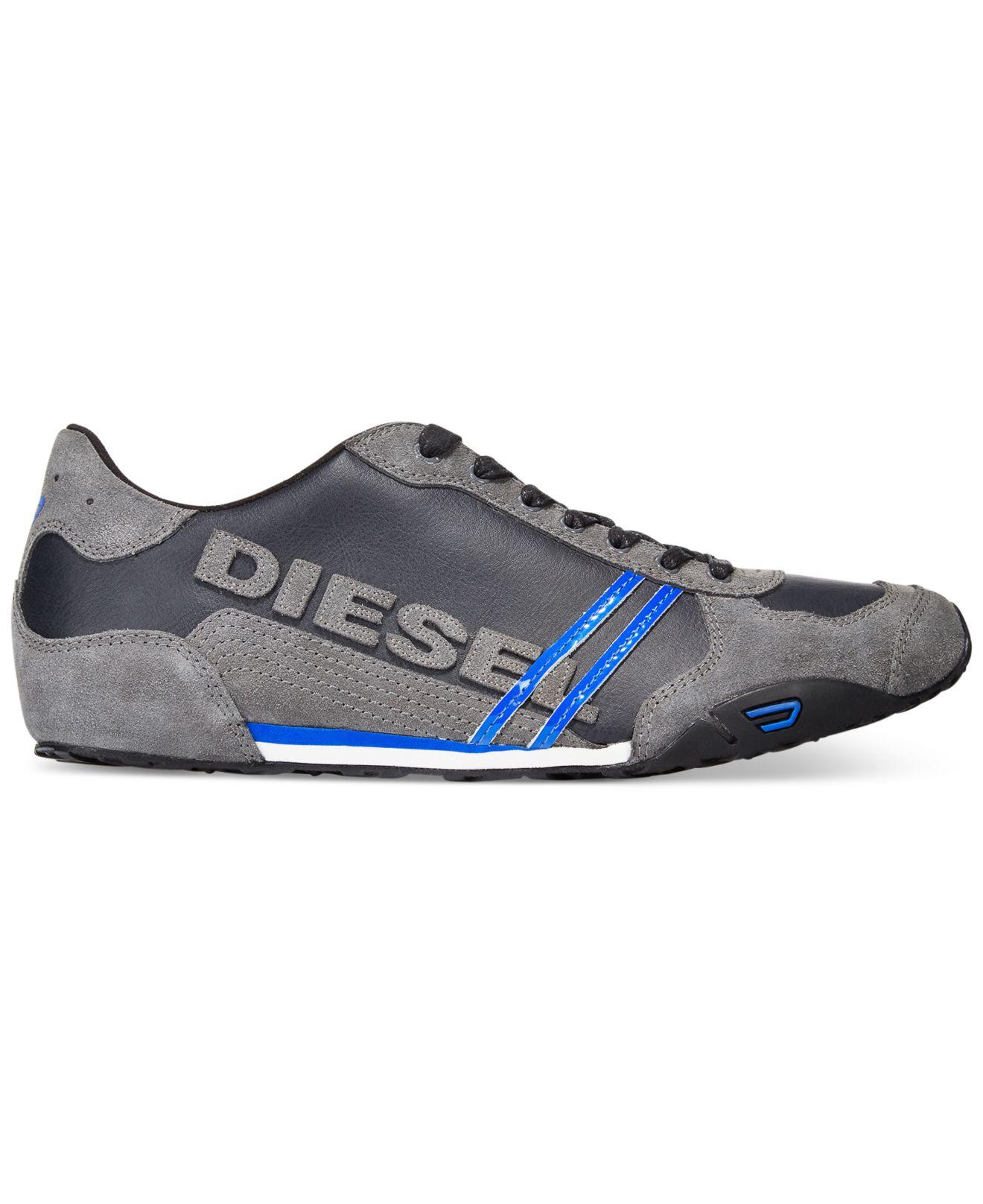 diesel harold solar sneakers in black for men lyst