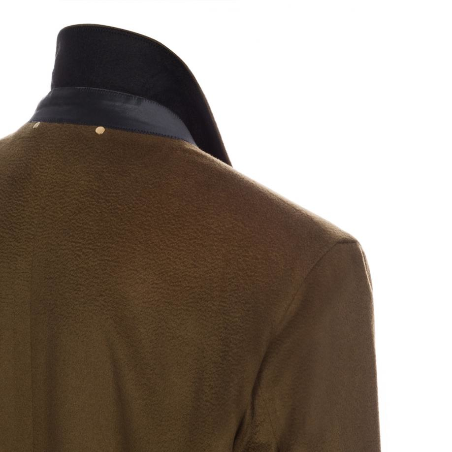 Paul smith Men's Olive Green Cashmere Double-breasted ...