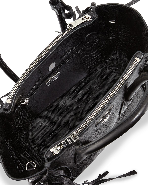 7694004c2667 Prada Glace Calf Twin Pocket Tote Bag in Black