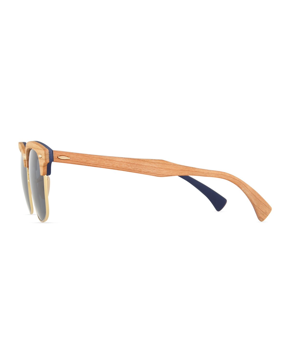 Lyst - Ray-Ban Clubmaster Wood Sunglasses in Blue for Men