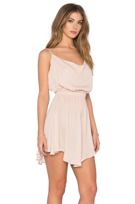 80b96a694a Lyst - Indah Tahani Silk Cocktail Dress in Pink