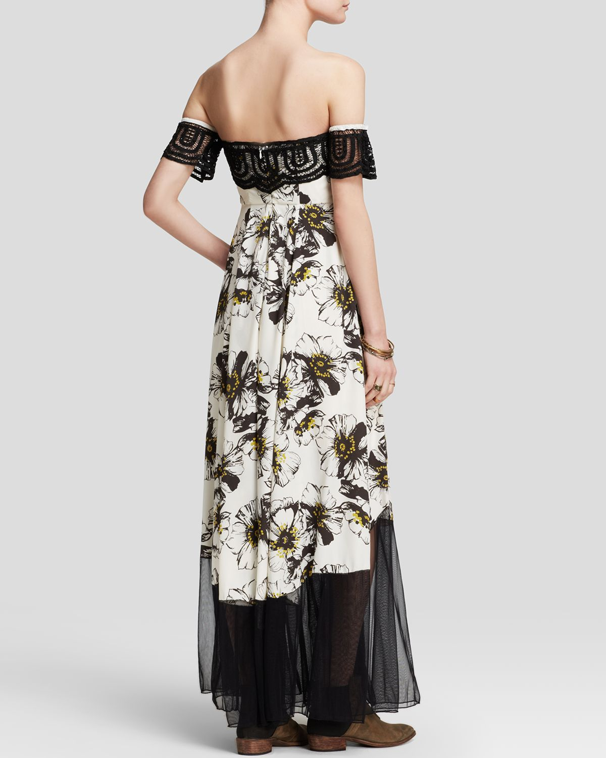 Lyst Free People Maxi Dress Hibiscus Printed In Black