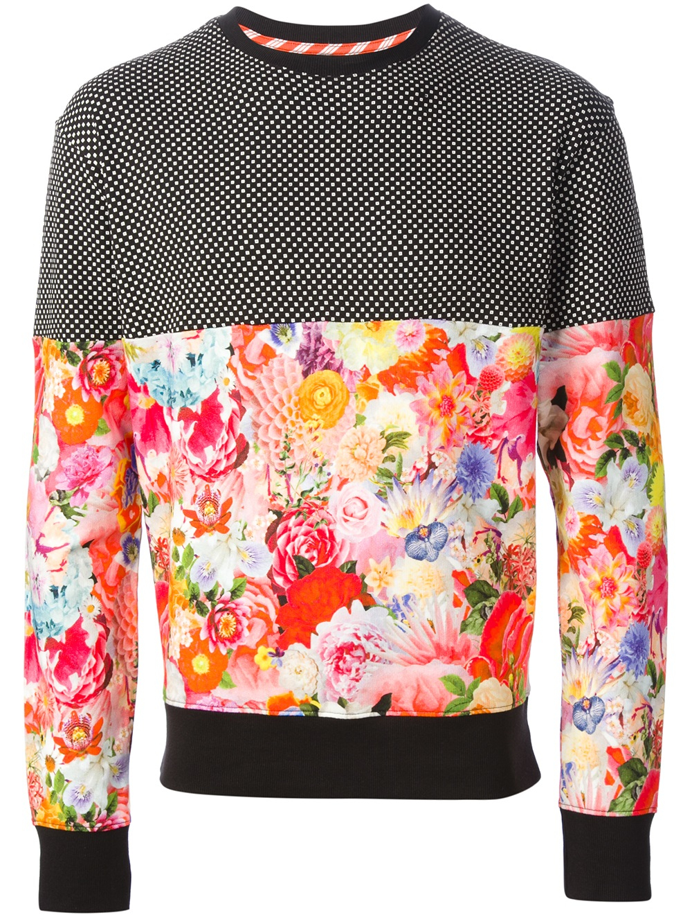 Basso & brooke Floral Print Sweater in Black for Men | Lyst