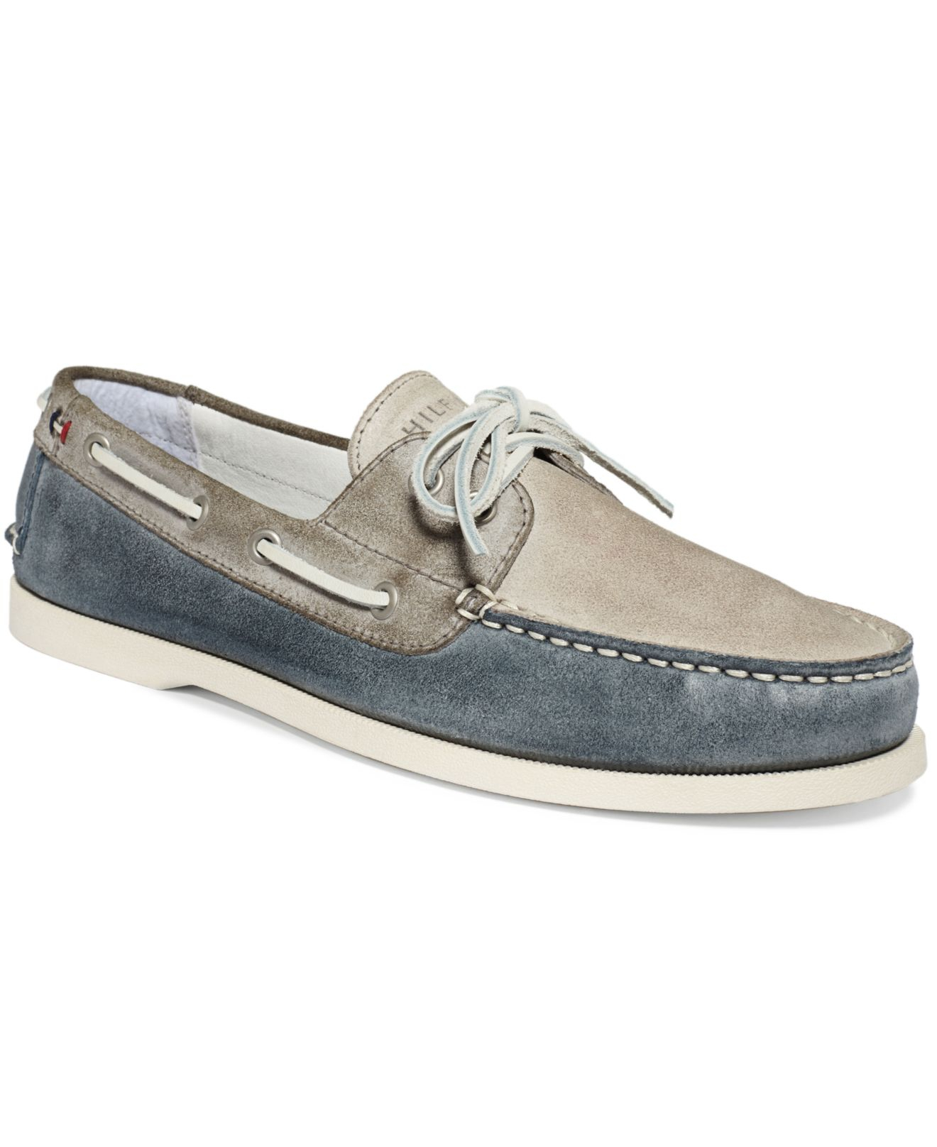 77175cb7e0f9 Lyst - Tommy Hilfiger Bowman Boat Shoes in Blue for Men