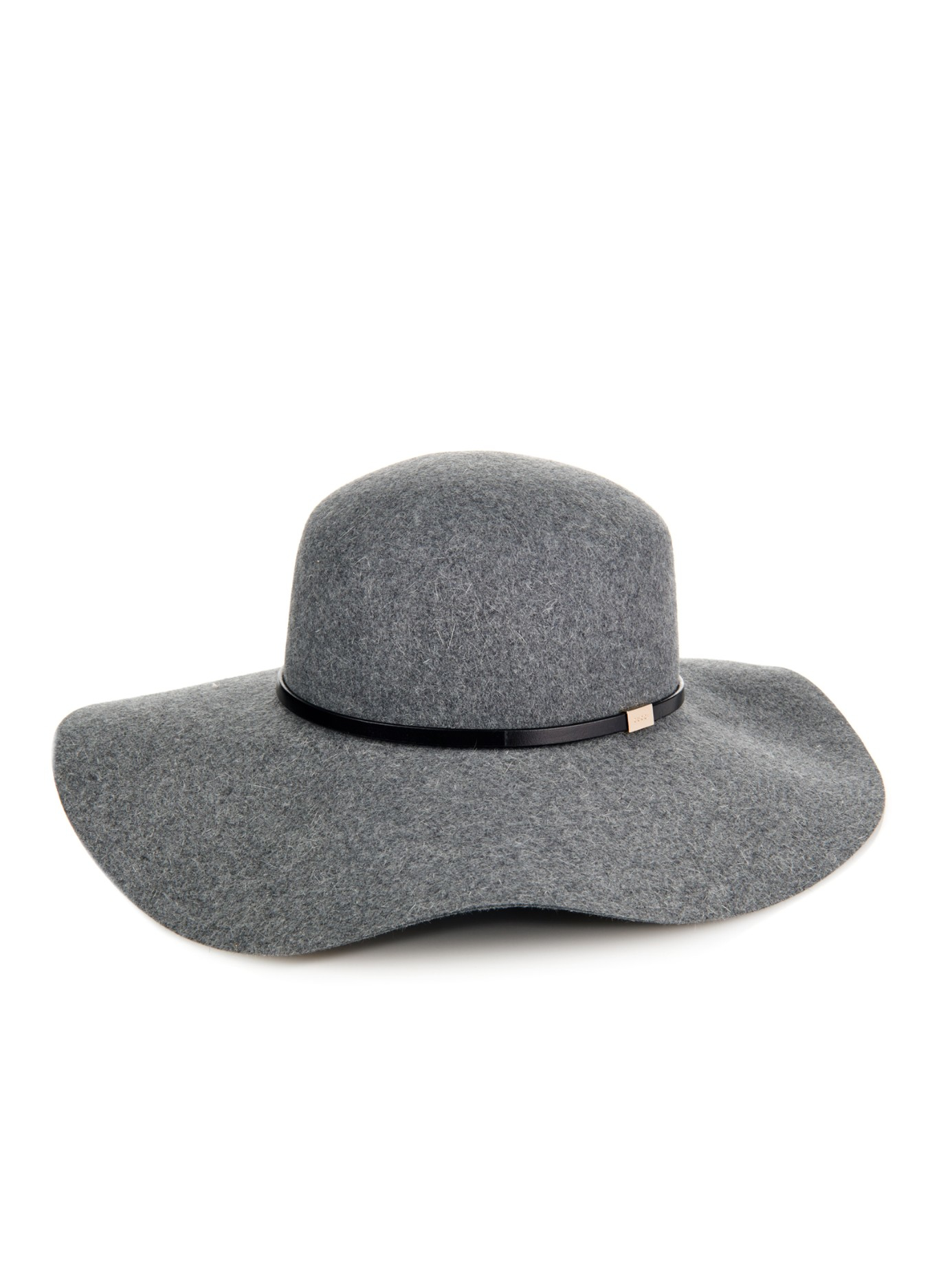 Lyst - Gucci Wide-Brim Fur-Felt Hat in Gray f9a3b24b4dc