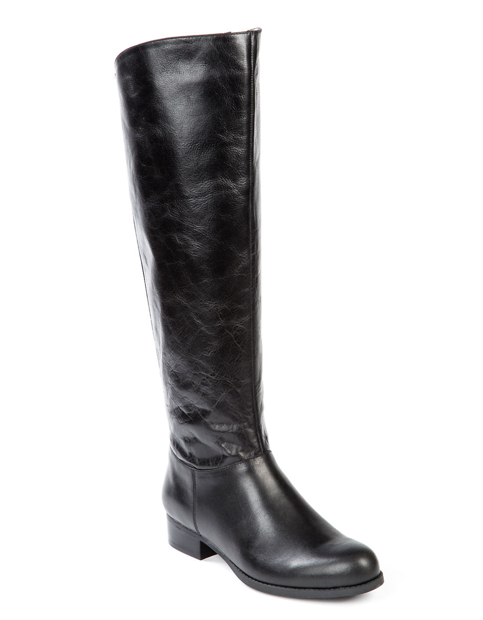 me astor distressed leather boots in black lyst