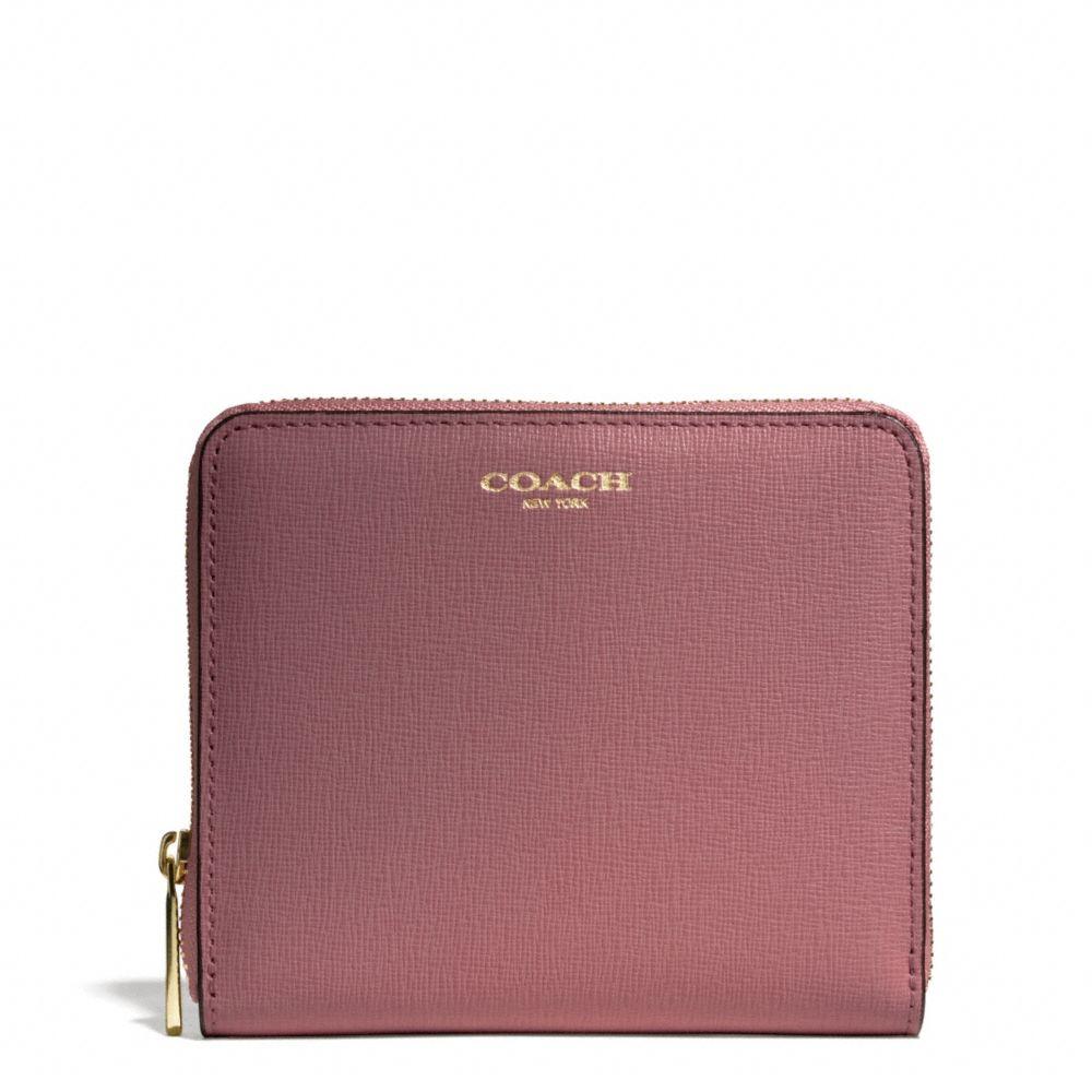 Lyst Coach Medium Continental Zip Wallet In Saffiano
