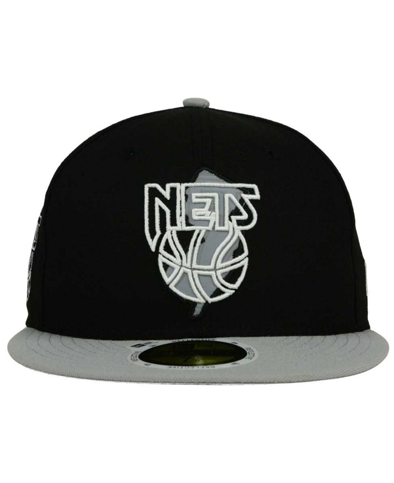 watch d491d c4440 KTZ New Jersey Nets State Reflective Redux 59fifty Cap in Black for ...