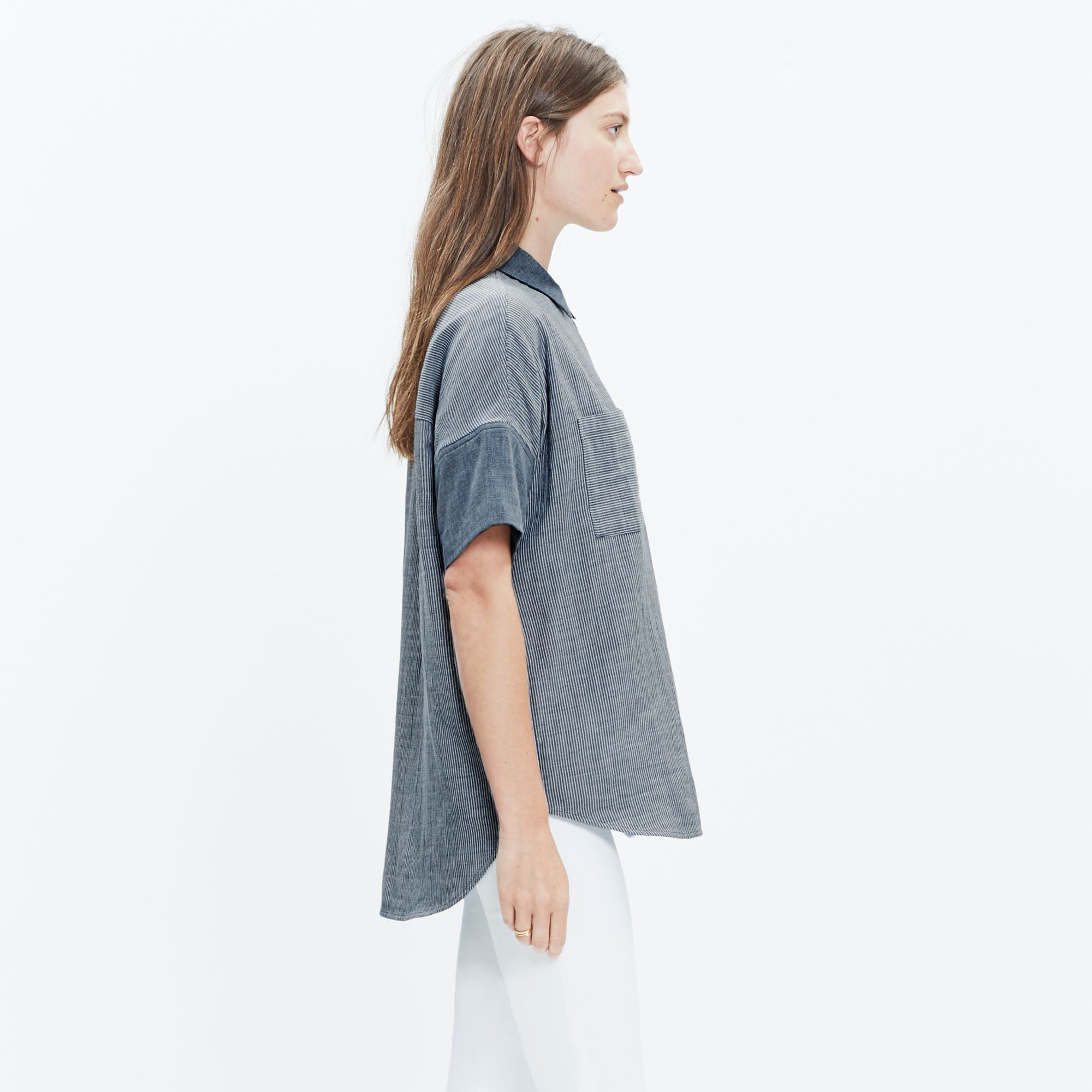 8c7ade42 Madewell Courier Shirt In Lilydale Stripe in Gray - Lyst