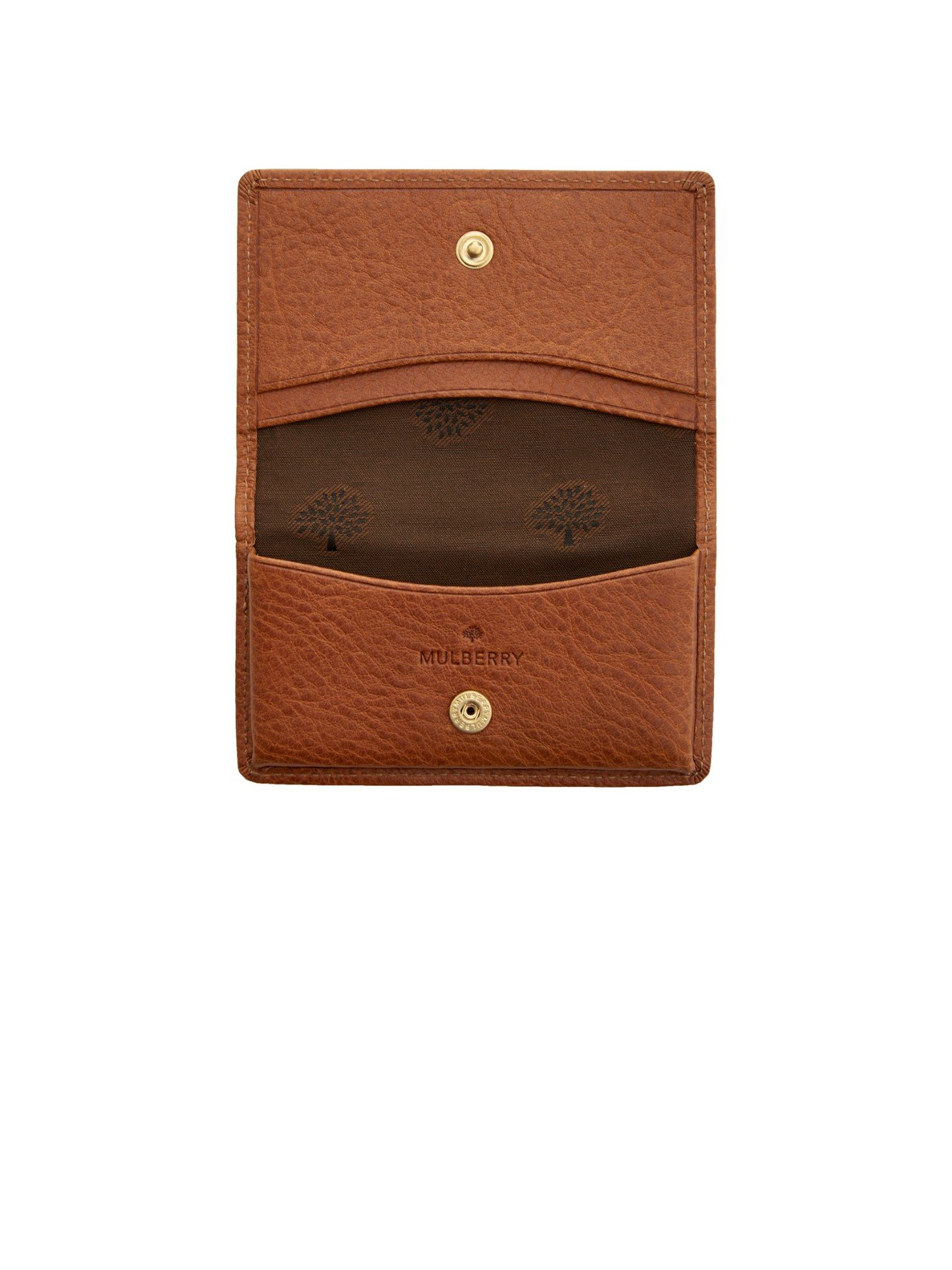 e18b9321e5ac Lyst - Mulberry Grained-leather Card Case in Brown for Men