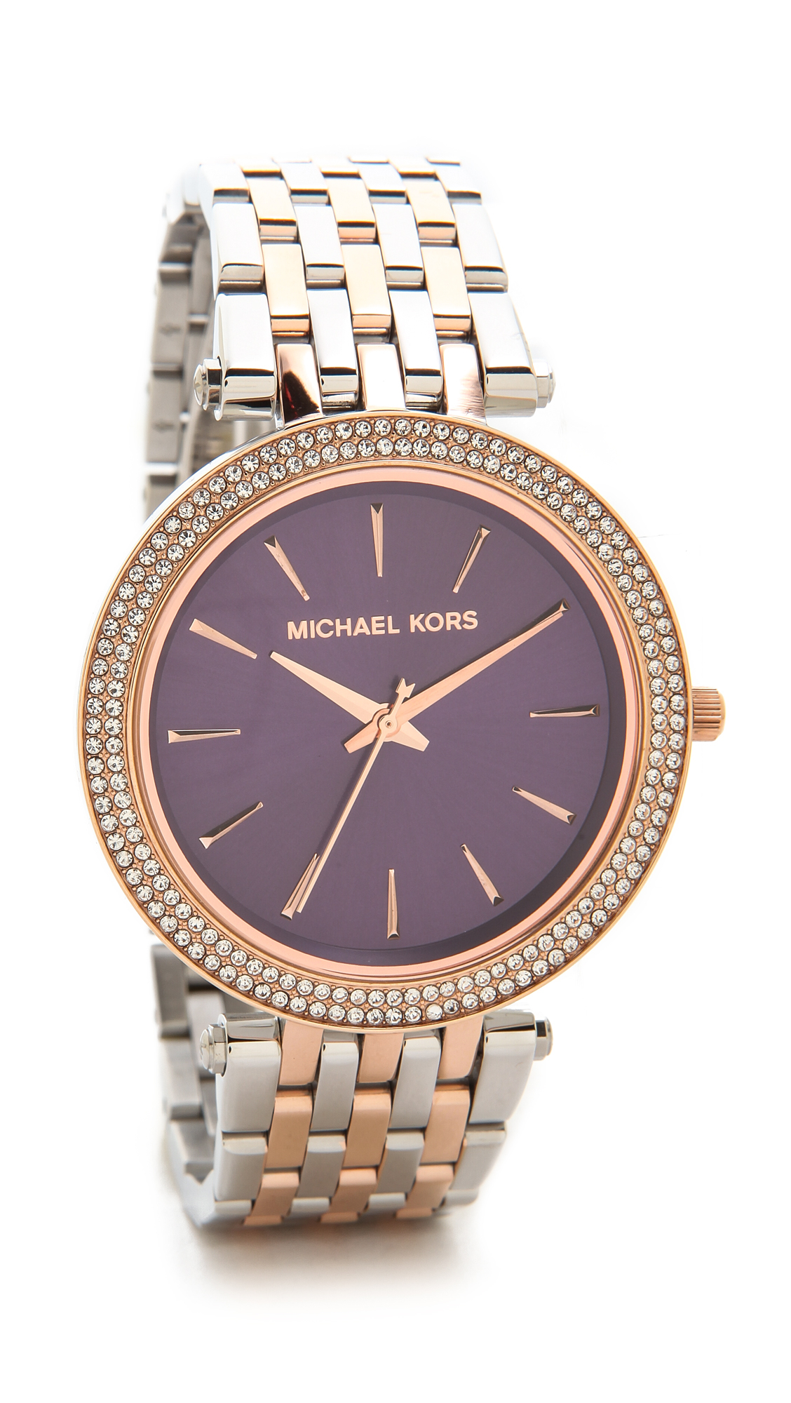 6b136f4959da6 Michael Kors Darci Watch - Silver Rose Amethyst in Purple - Lyst