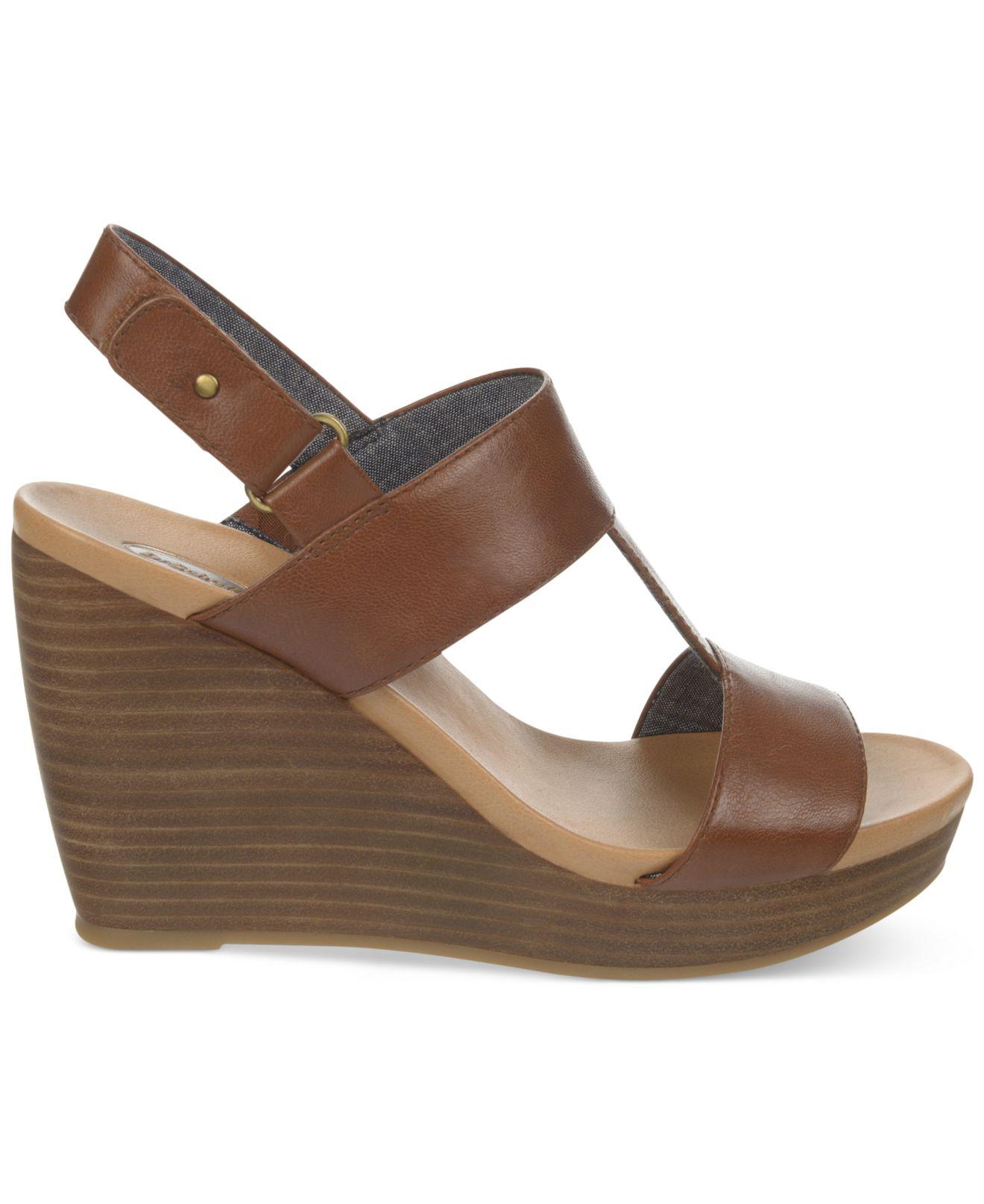 1c5b4f1df1b4 Lyst - Dr. Scholls Mica Platform Wedge Sandals in Brown