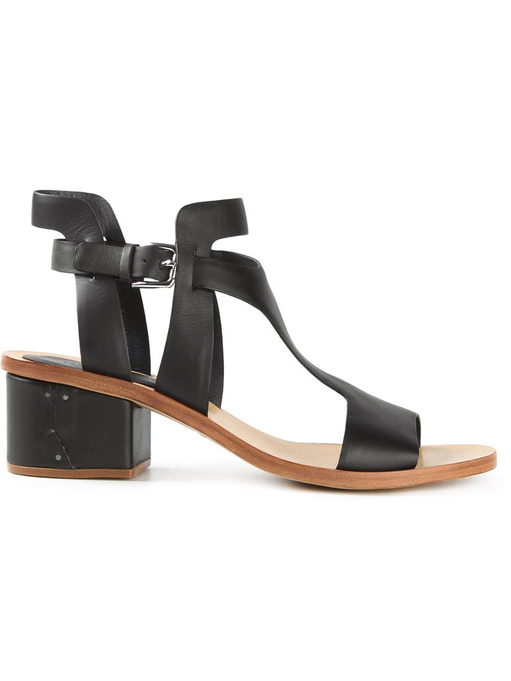 Fantastic Taryn Rose Inger LowHeel Bow Sandals In Black  Lyst