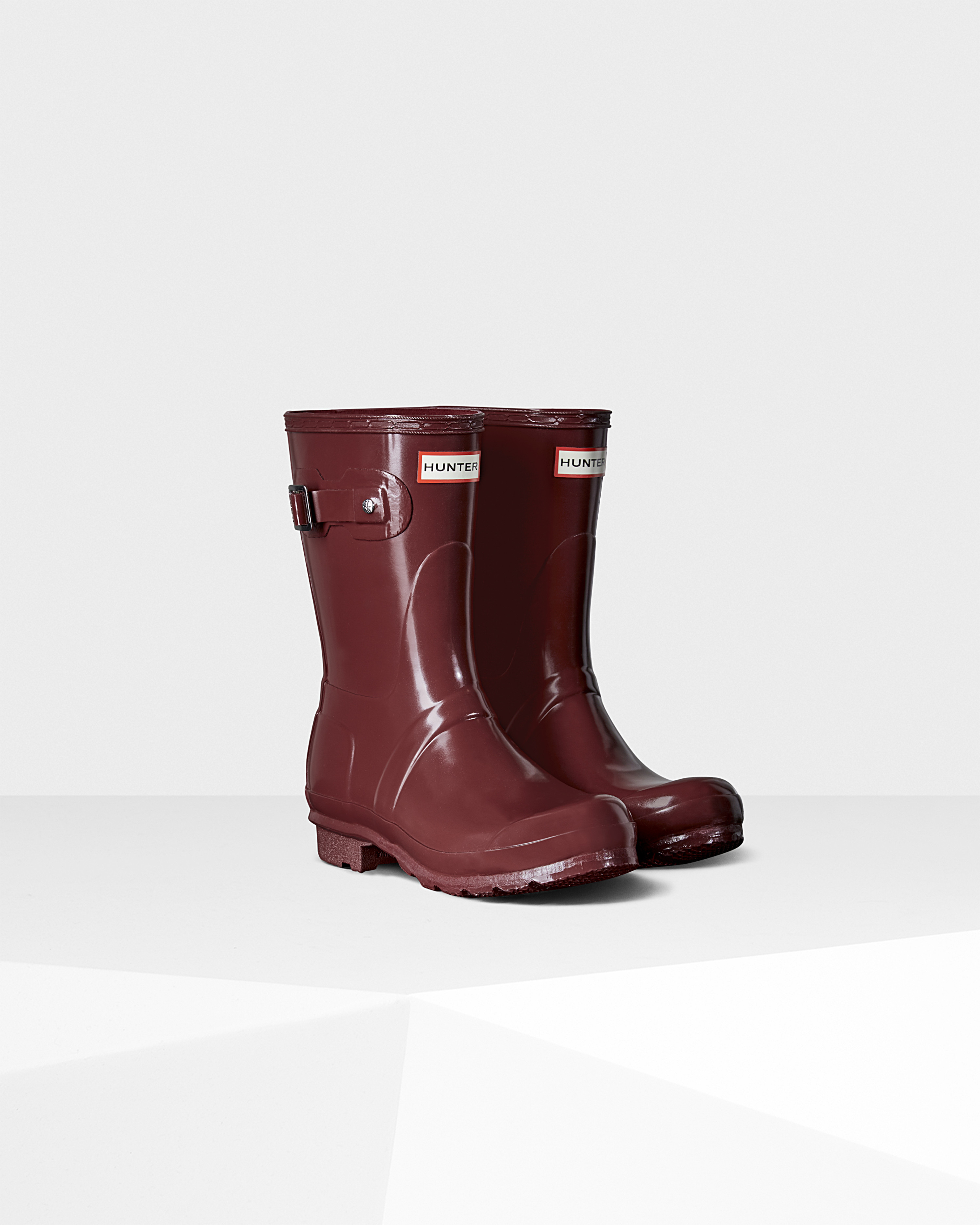 Lyst - Hunter Womens Original Short Gloss Rain Boots In Purple