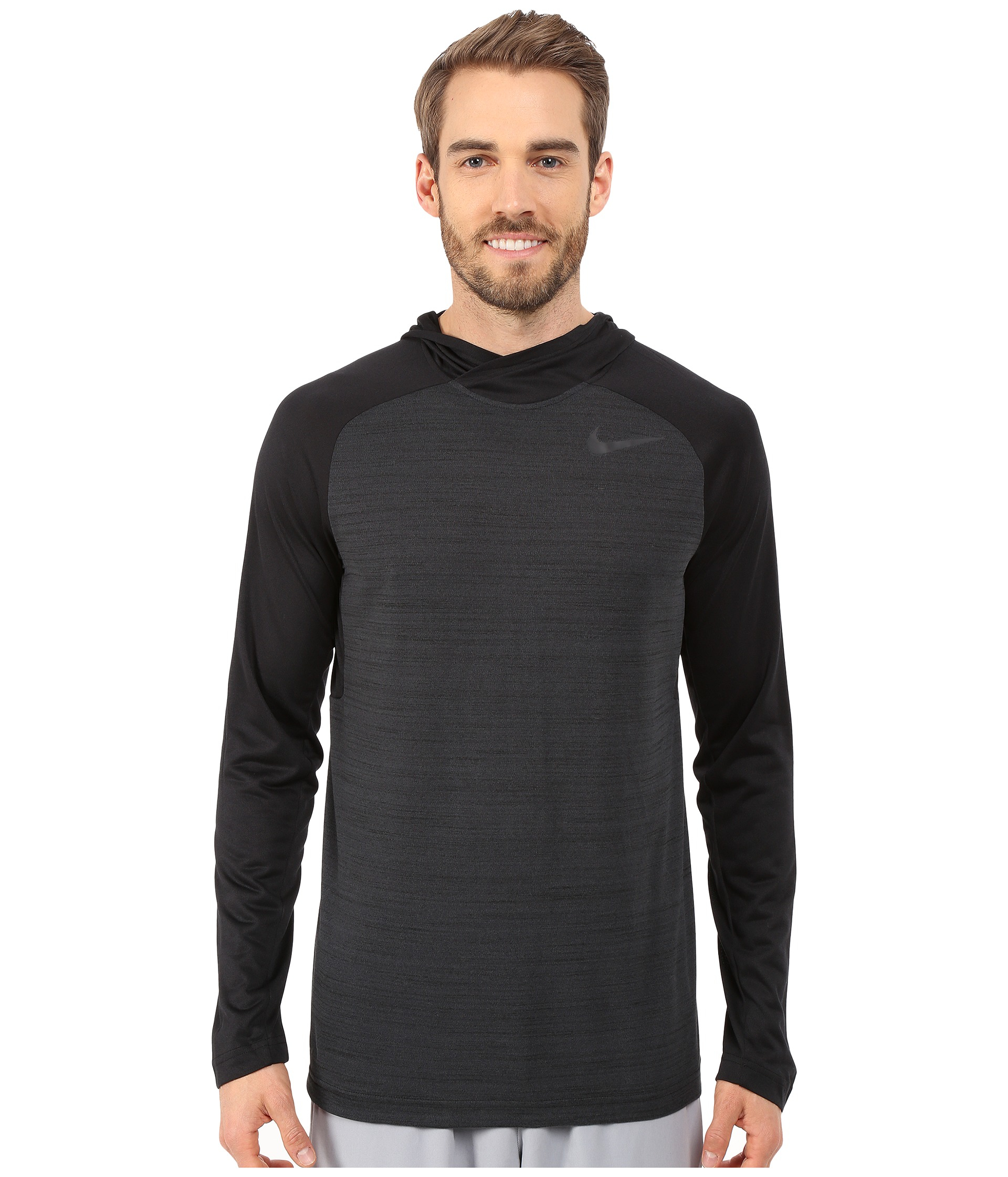 Nike Dri Fit Touch Long Sleeve Hoodie In Black For Men Lyst