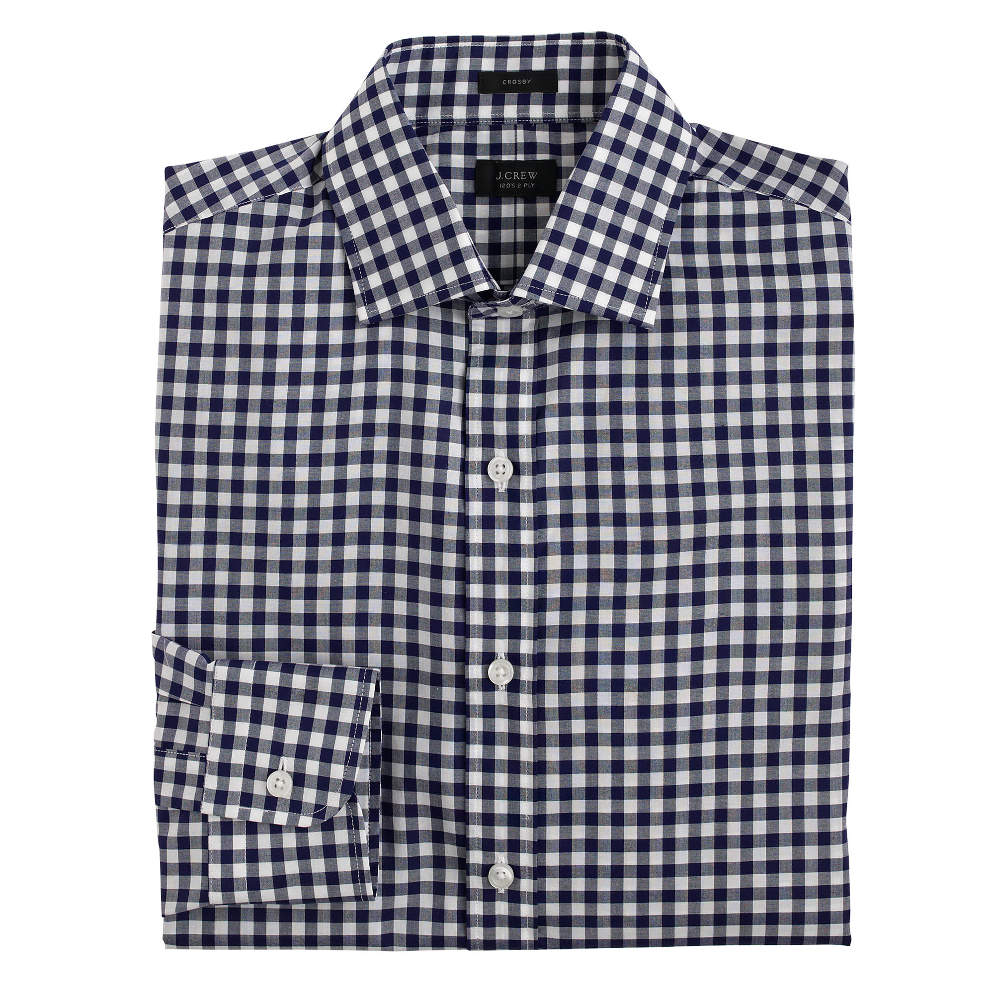 Crosby Shirt In Classic Navy Gingham In Blue For