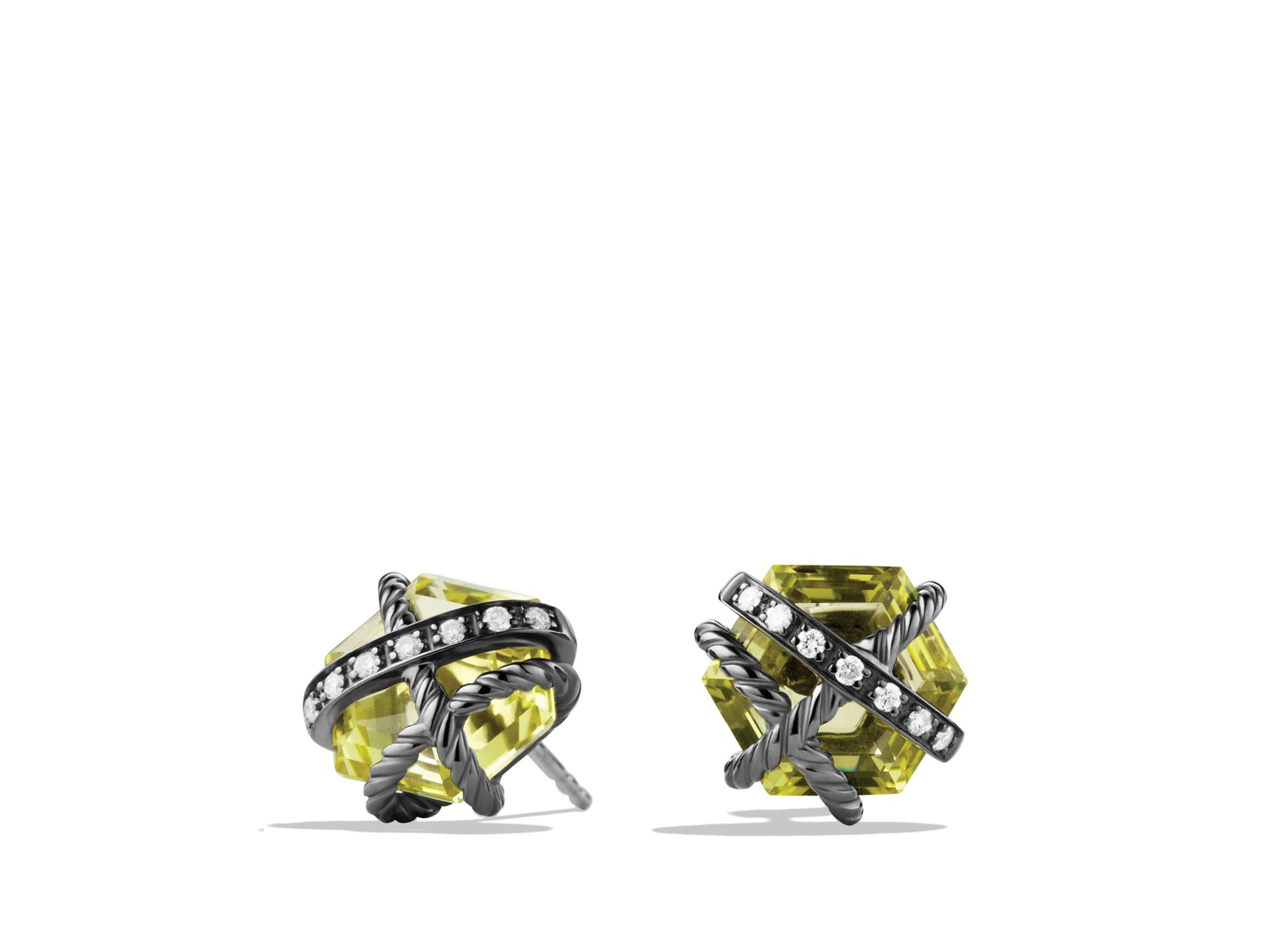 i yurman tradesy gold silver citrine earrings lemon david sterling and albion