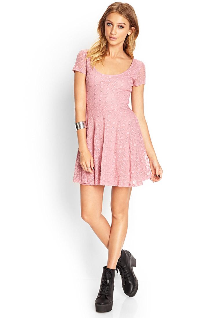 2b9e21579658 Purple Long Sleeve Dress Forever 21