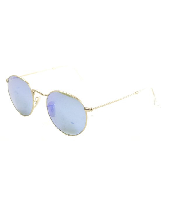 3649d501a Lyst - Ray-Ban Ray Ban Rb3447 Round Metal 112/4l Polarized Sunglasses in