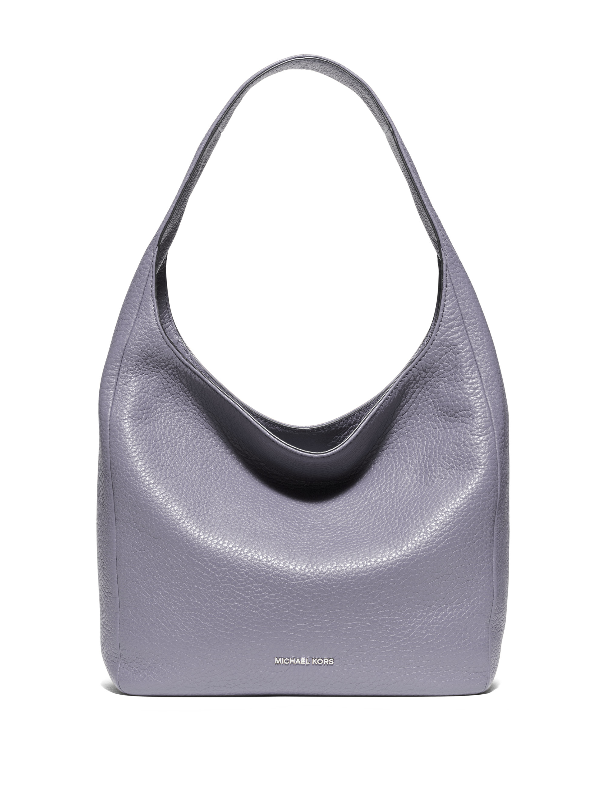 Michael michael kors Lena Large Leather Hobo Bag in Metallic | Lyst