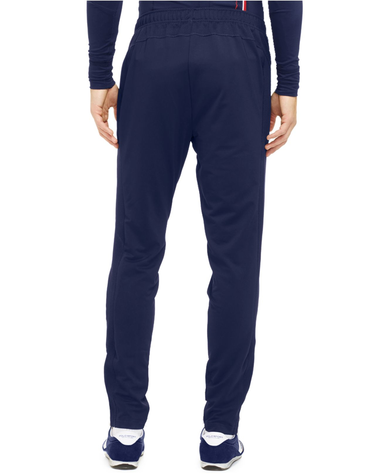 polo ralph lauren polo sport rlx quick wick pant in blue. Black Bedroom Furniture Sets. Home Design Ideas