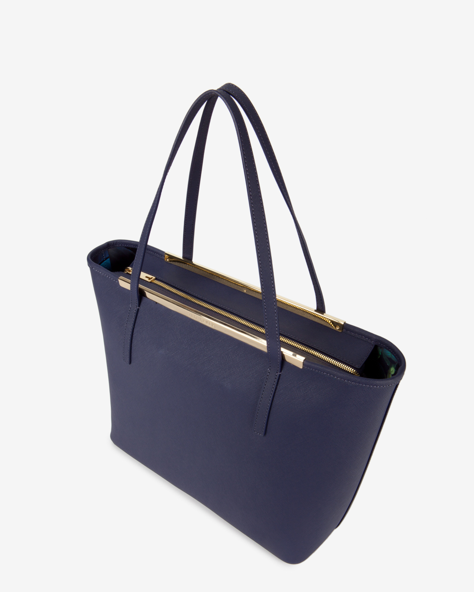 c30ff6a974b Ted Baker Large Crosshatch Leather Shopper Bag in Blue - Lyst