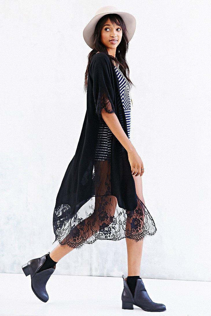Black Maxi Kimono
