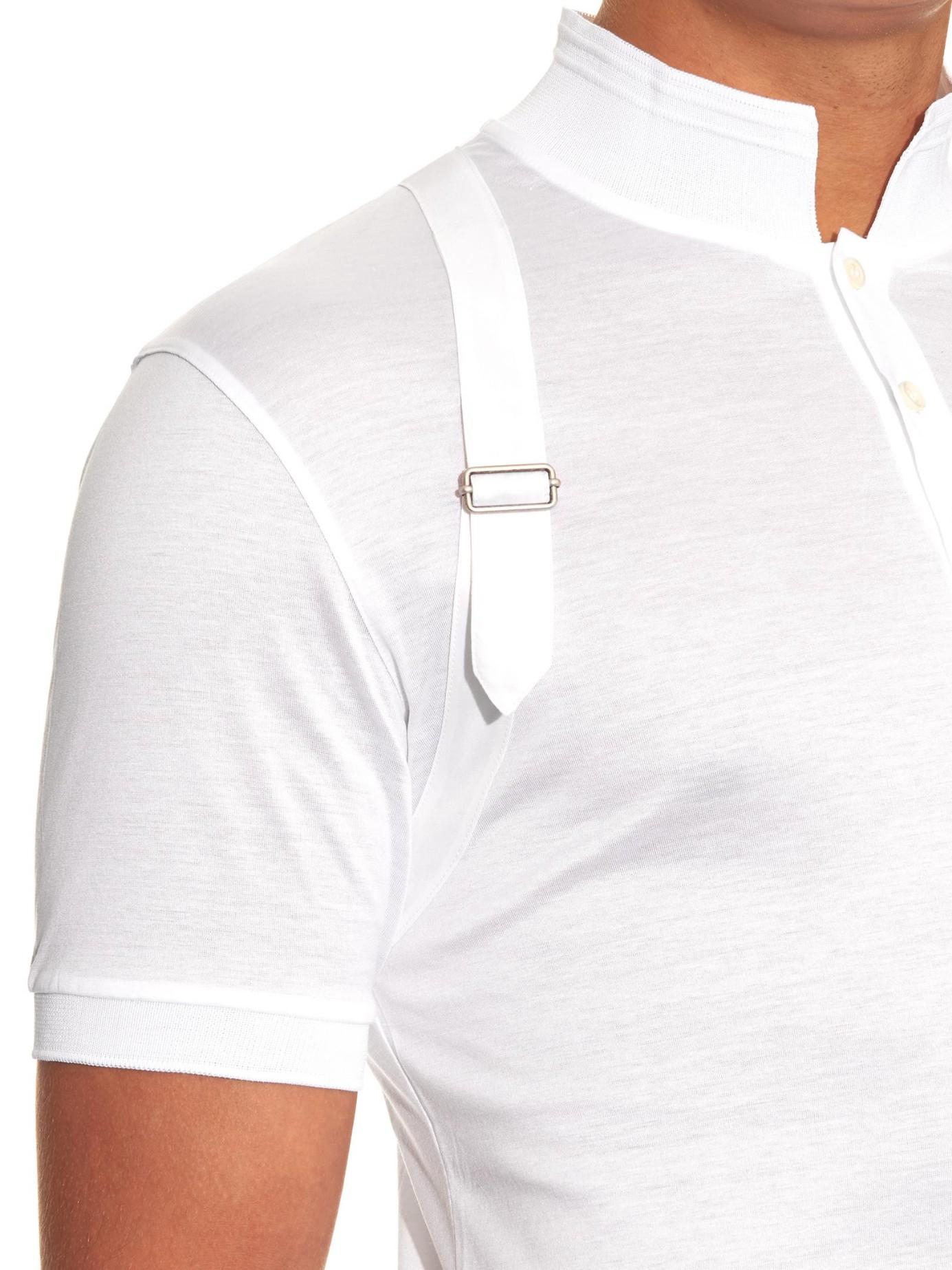 875267cb Shirts harness detail polo shirt--White White
