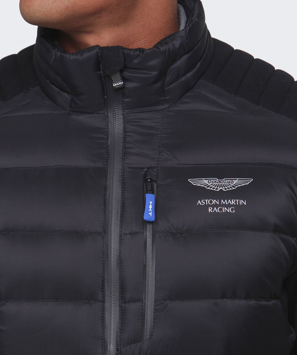 Lyst Hackett Aston Martin Racing Quilted Jacket In Black