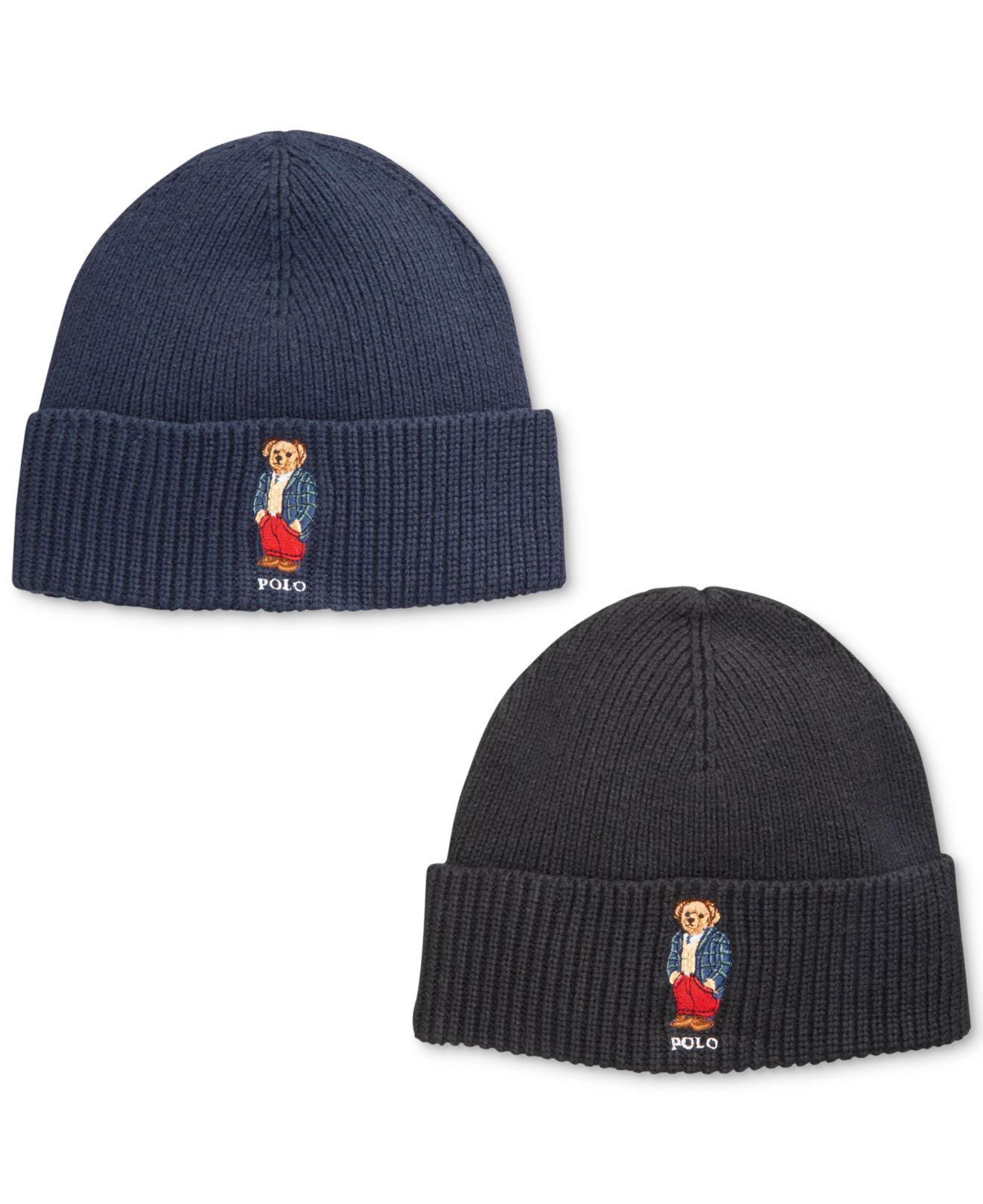 a377362d4e6 Lyst Polo Ralph Lauren Bear Blackwatch Sportscoat Hat In Blue For Men