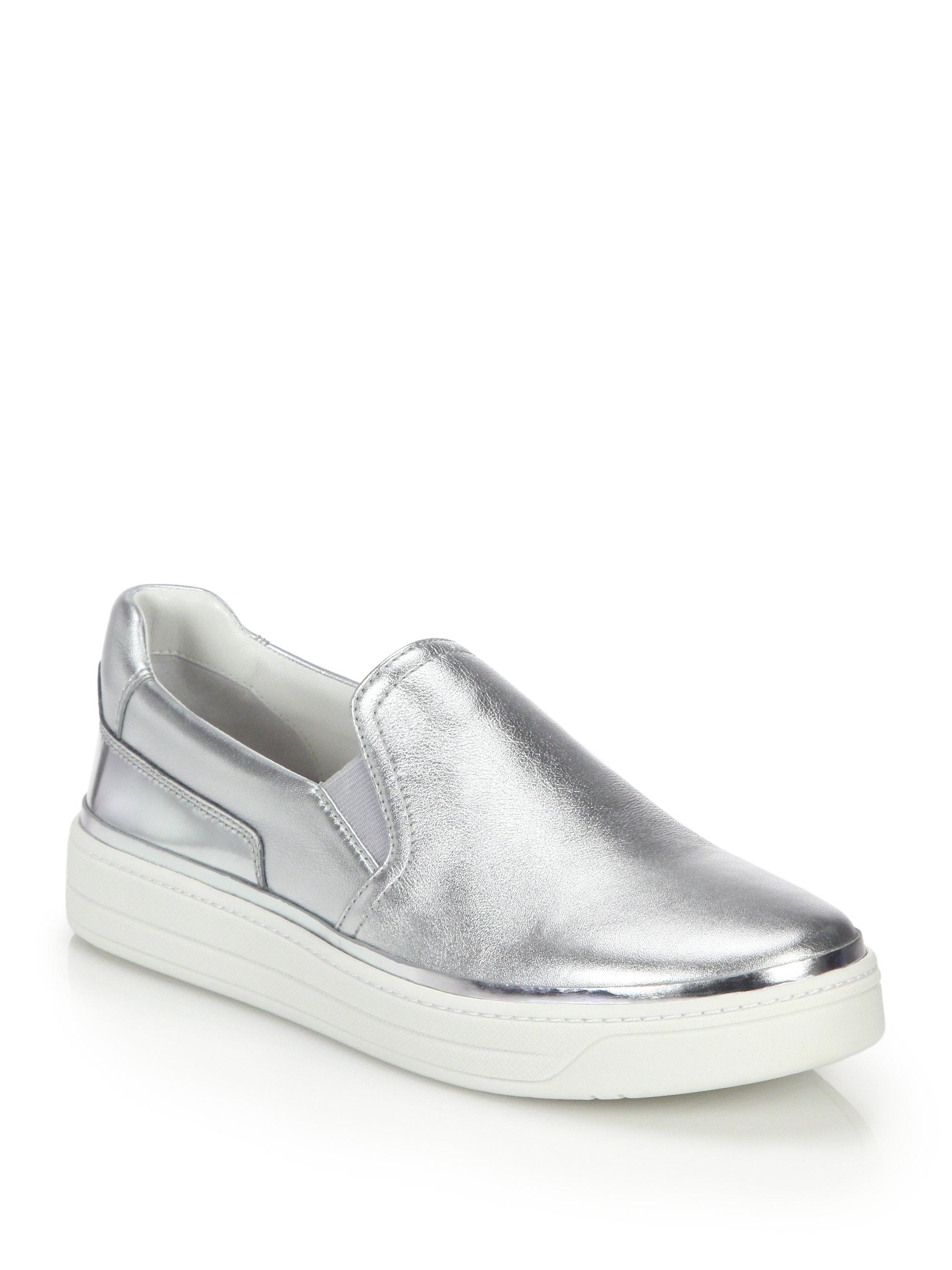 Prada Sport Metallic Slip-On Sneakers lowest price online footlocker sale online cheap sale best fashion Style for sale eMAco