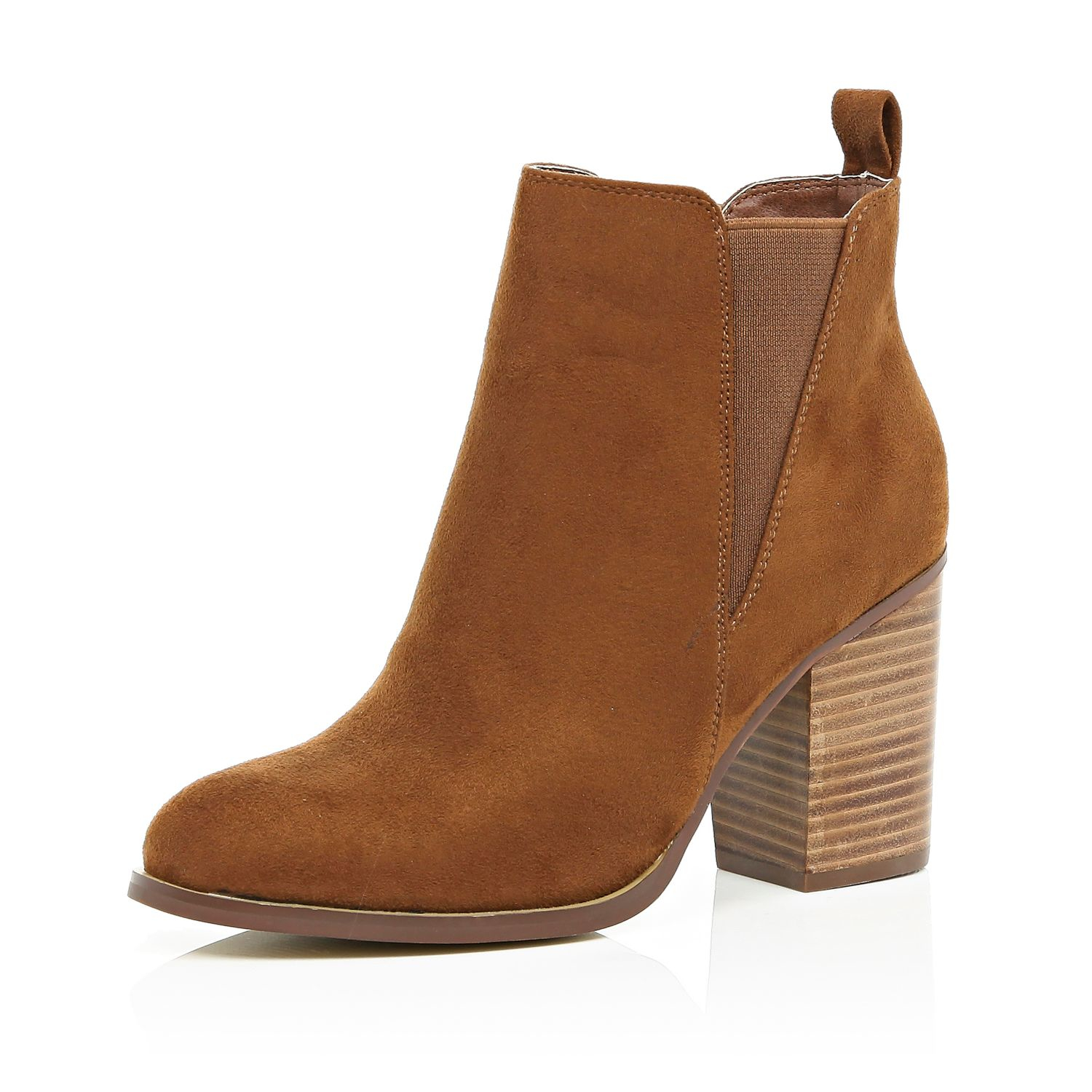 Heeled Chelsea Boots Brown - Shoes & Boots Review