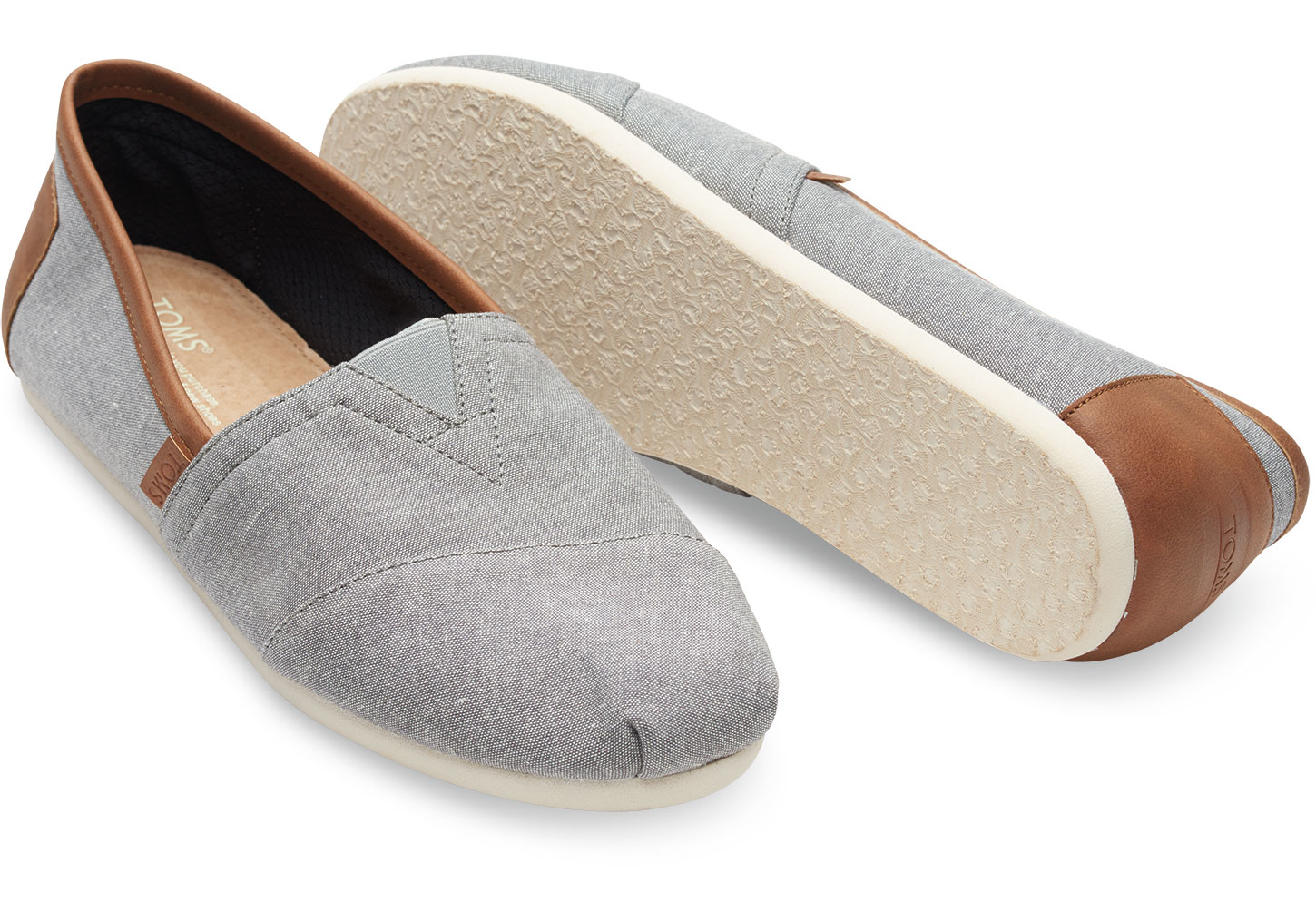 a06d7a83a17 Lyst - TOMS Frost Grey Chambray Men s Classics in Gray for Men