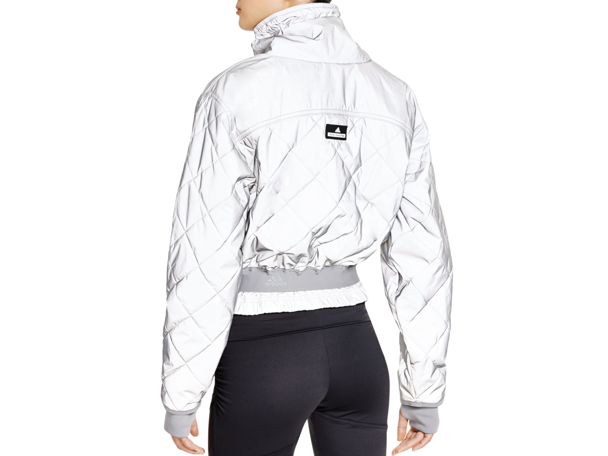 Adidas By Stella Mccartney Quilted Jacket In Metallic Lyst