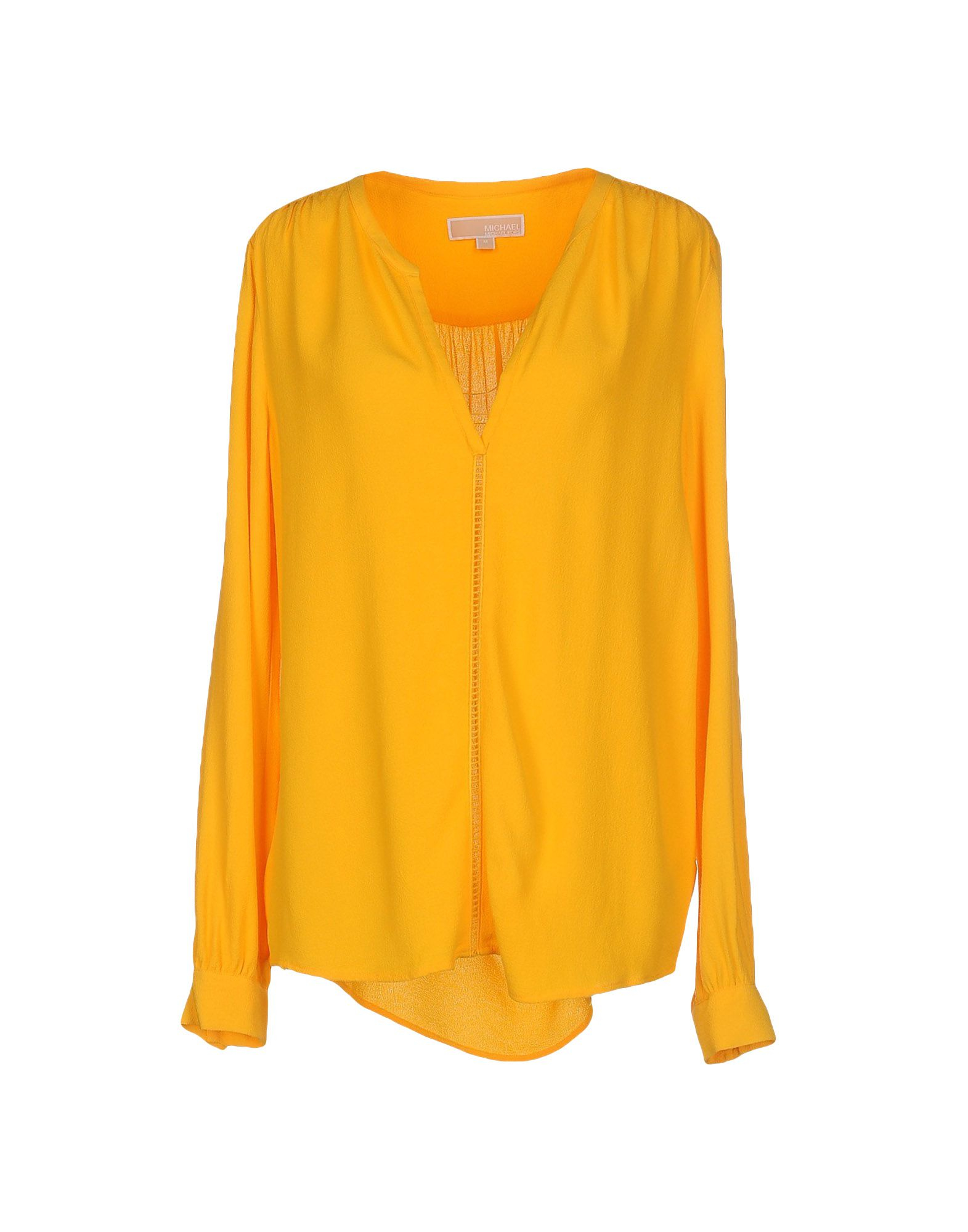 michael michael kors blouse in yellow lyst. Black Bedroom Furniture Sets. Home Design Ideas