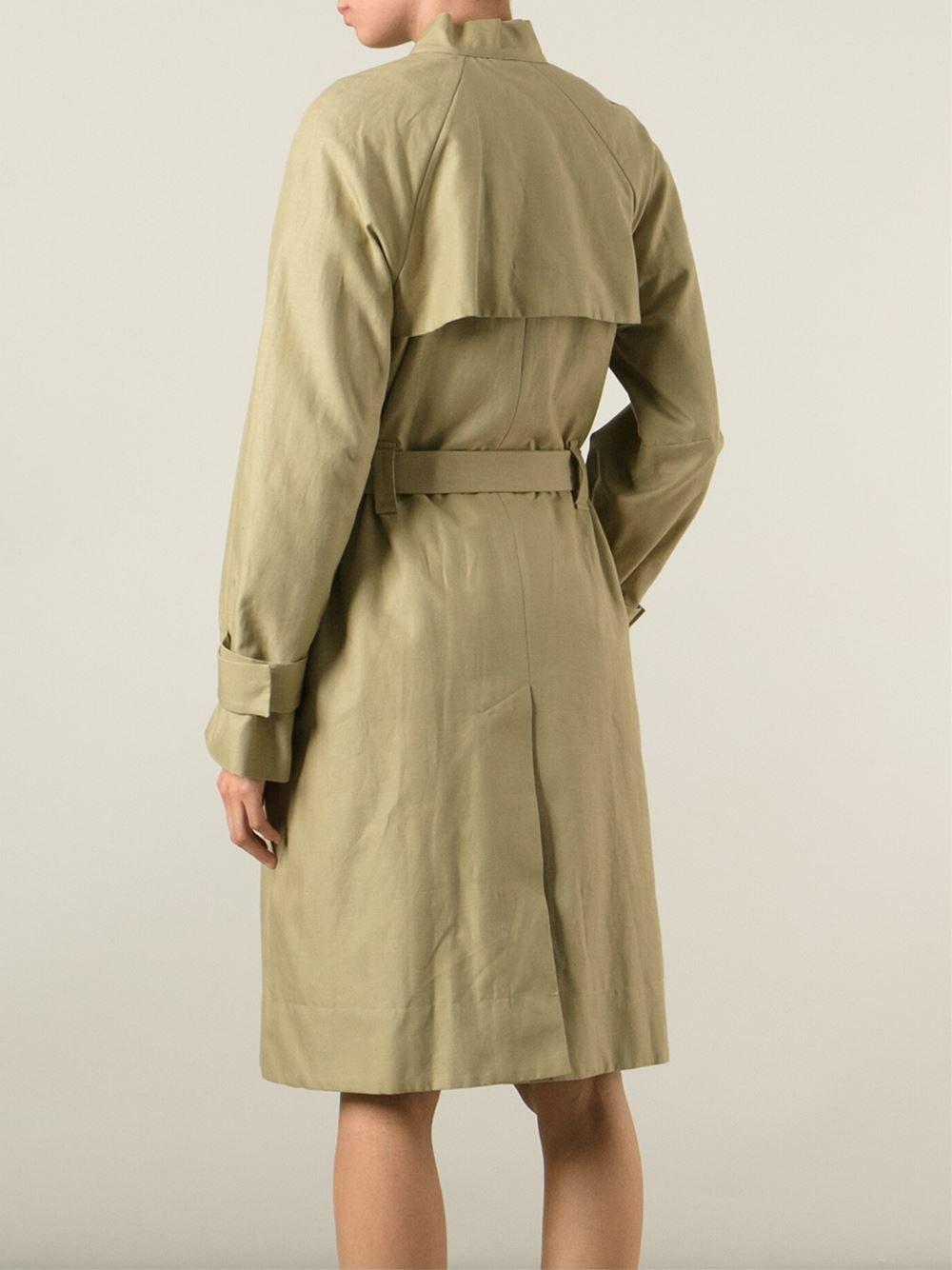 681d9937862 Isabel Marant Oversized Trench Coat in Natural - Lyst