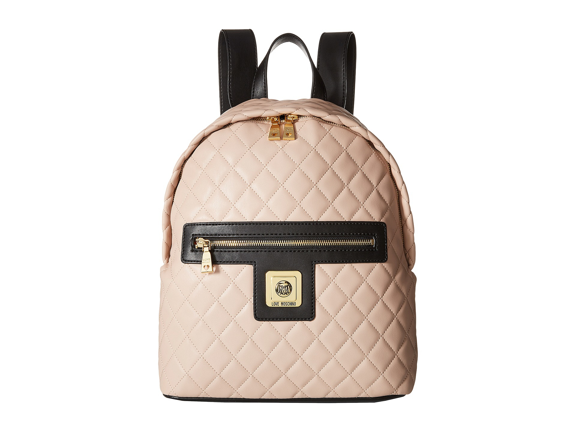 4cfdb2b97b Lyst - Love Moschino I Love Superquilted Backpack in Pink