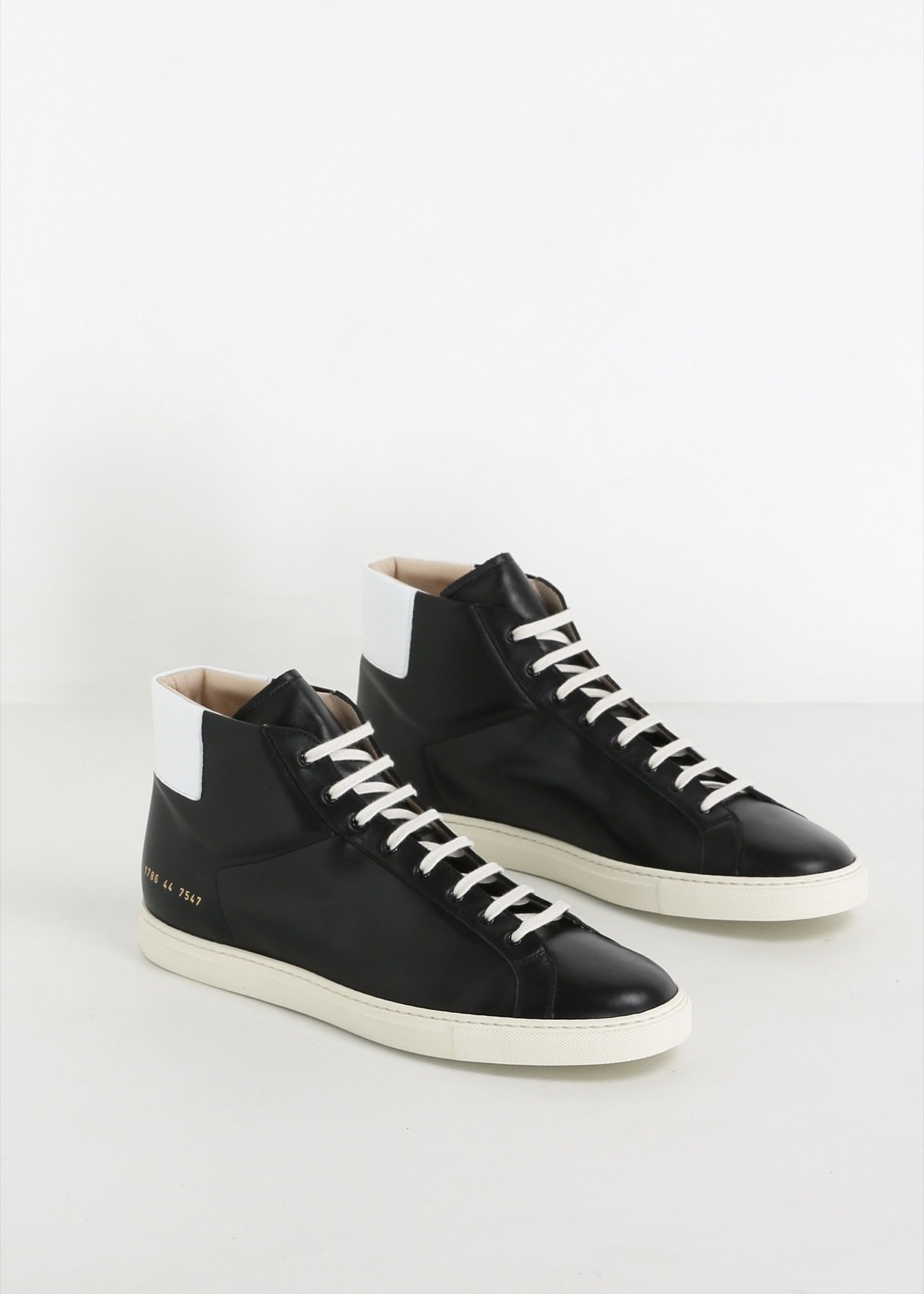 5c63a70787f35 Lyst - Common Projects Black Achilles Retro High Sneaker in Black ...