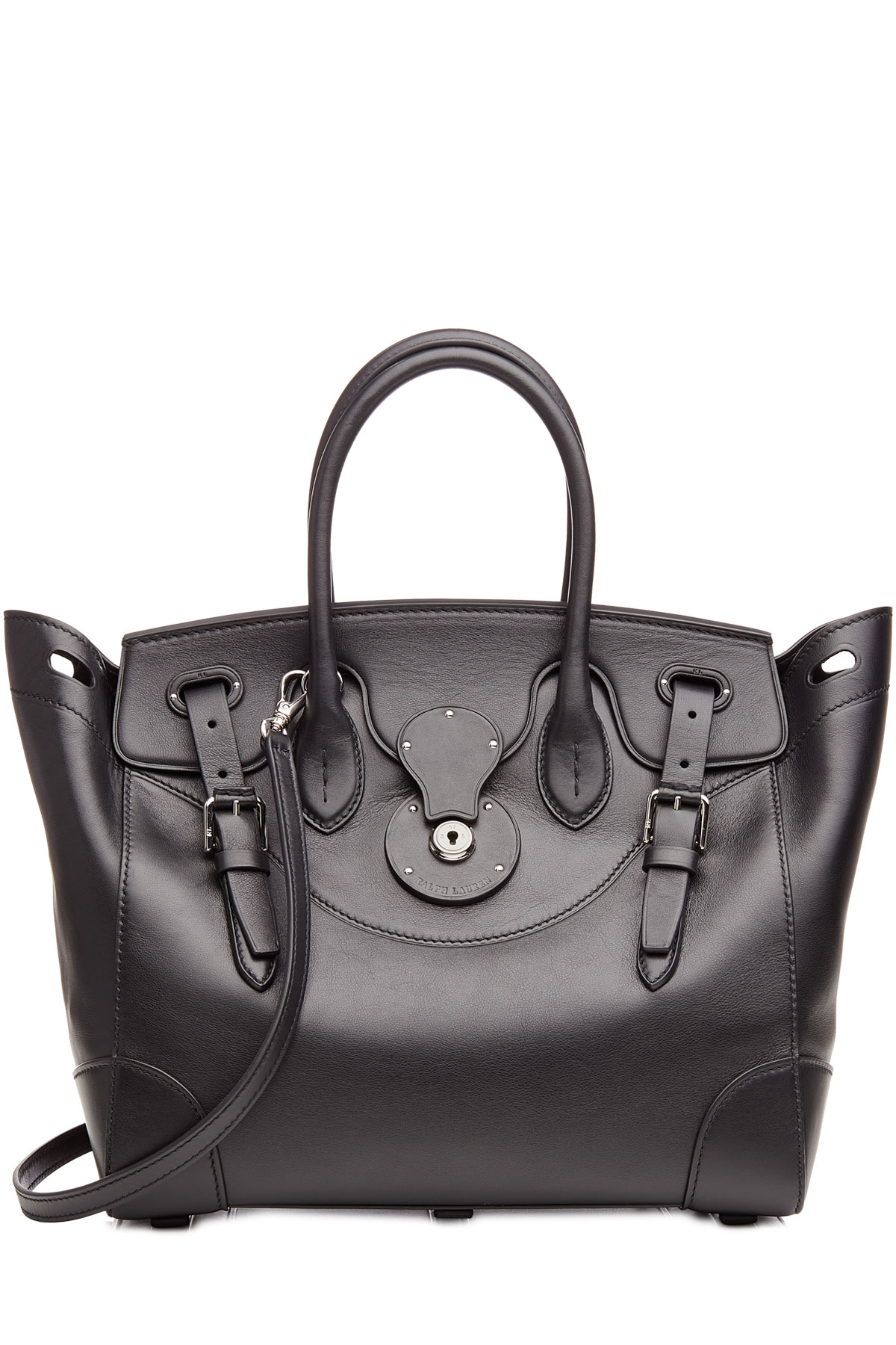 45ca7a6620 Lyst - Ralph Lauren Collection Leather Soft Ricky Tote - Black in Black