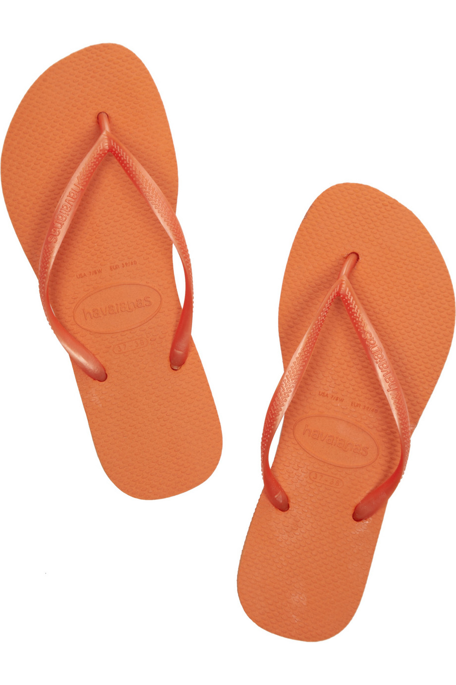 4b1bc57d2700 Lyst - Havaianas Slim Neon Rubber Flip Flops in Orange