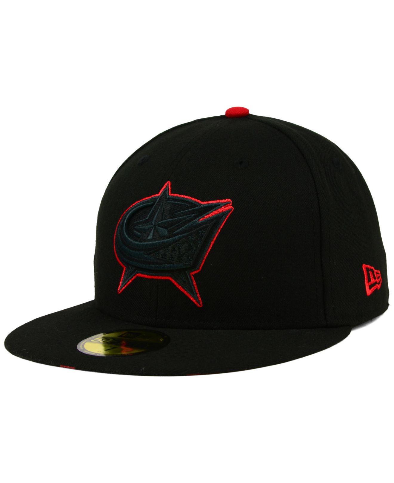 Lyst - KTZ Columbus Blue Jackets Pop Flip 59fifty Cap in Black for Men faf7da40d1c