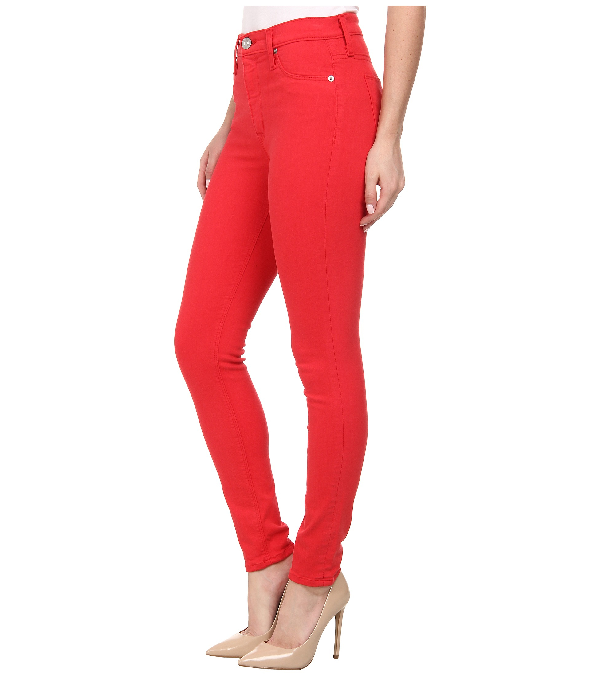 High waisted skinny jeans red – Global fashion jeans models
