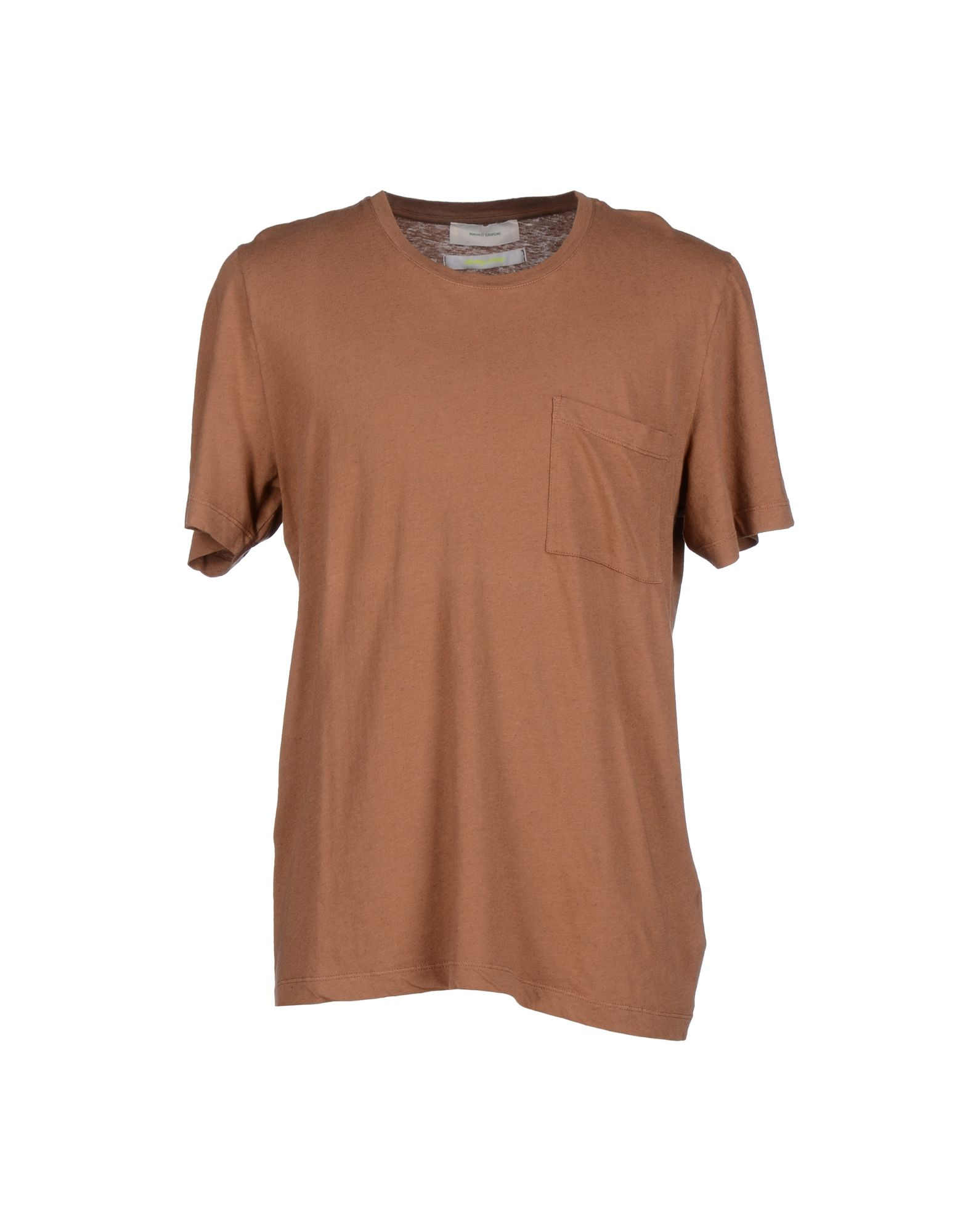 Lyst mauro grifoni t shirt in brown for men for Mens chocolate brown dress shirt