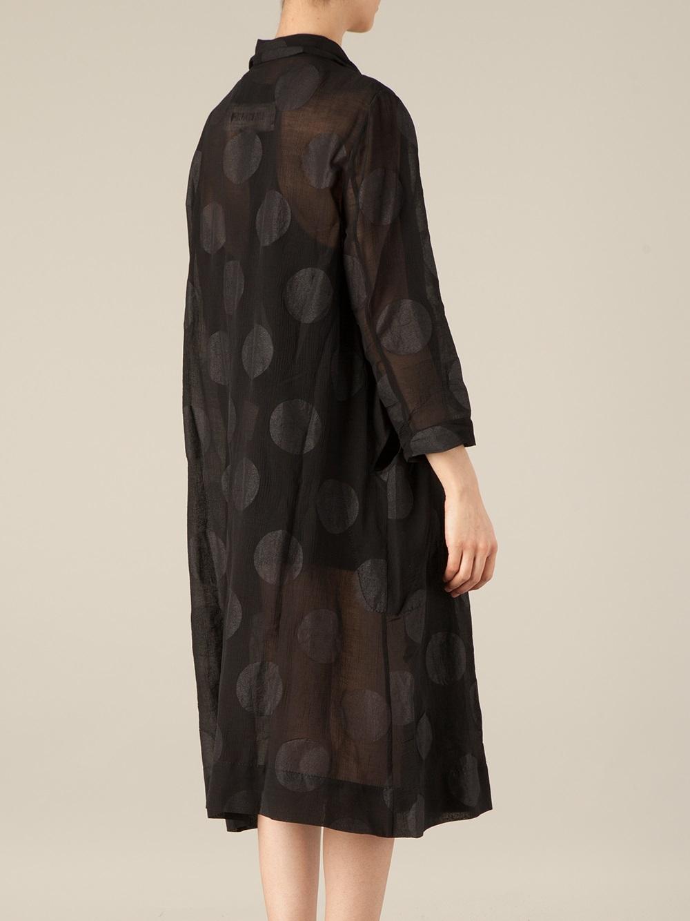 long draped shirt dress - Black Uma Wang FrI8wwn