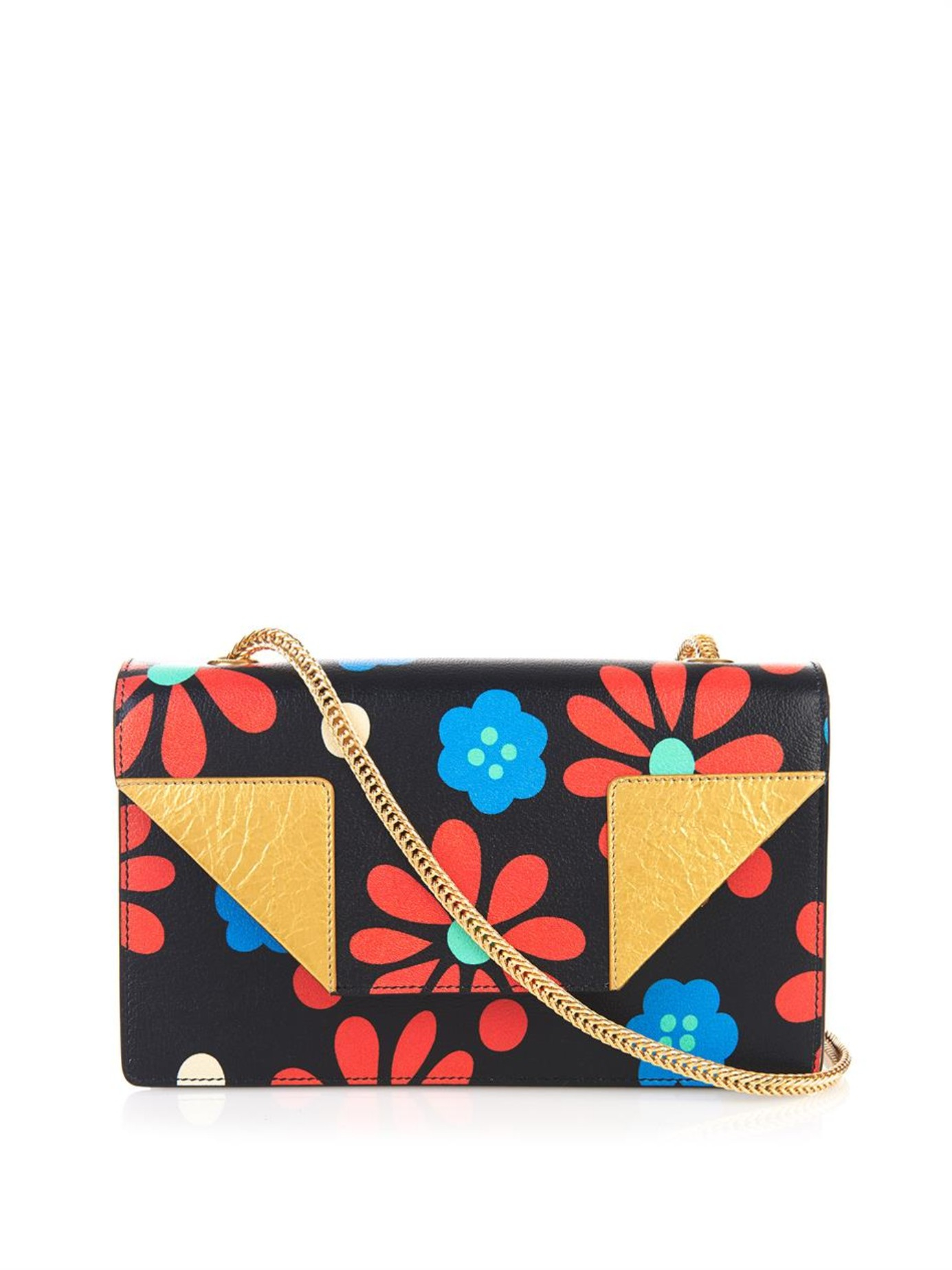 Monogram Small Prairie Flower Clutch Bag, Black Multi