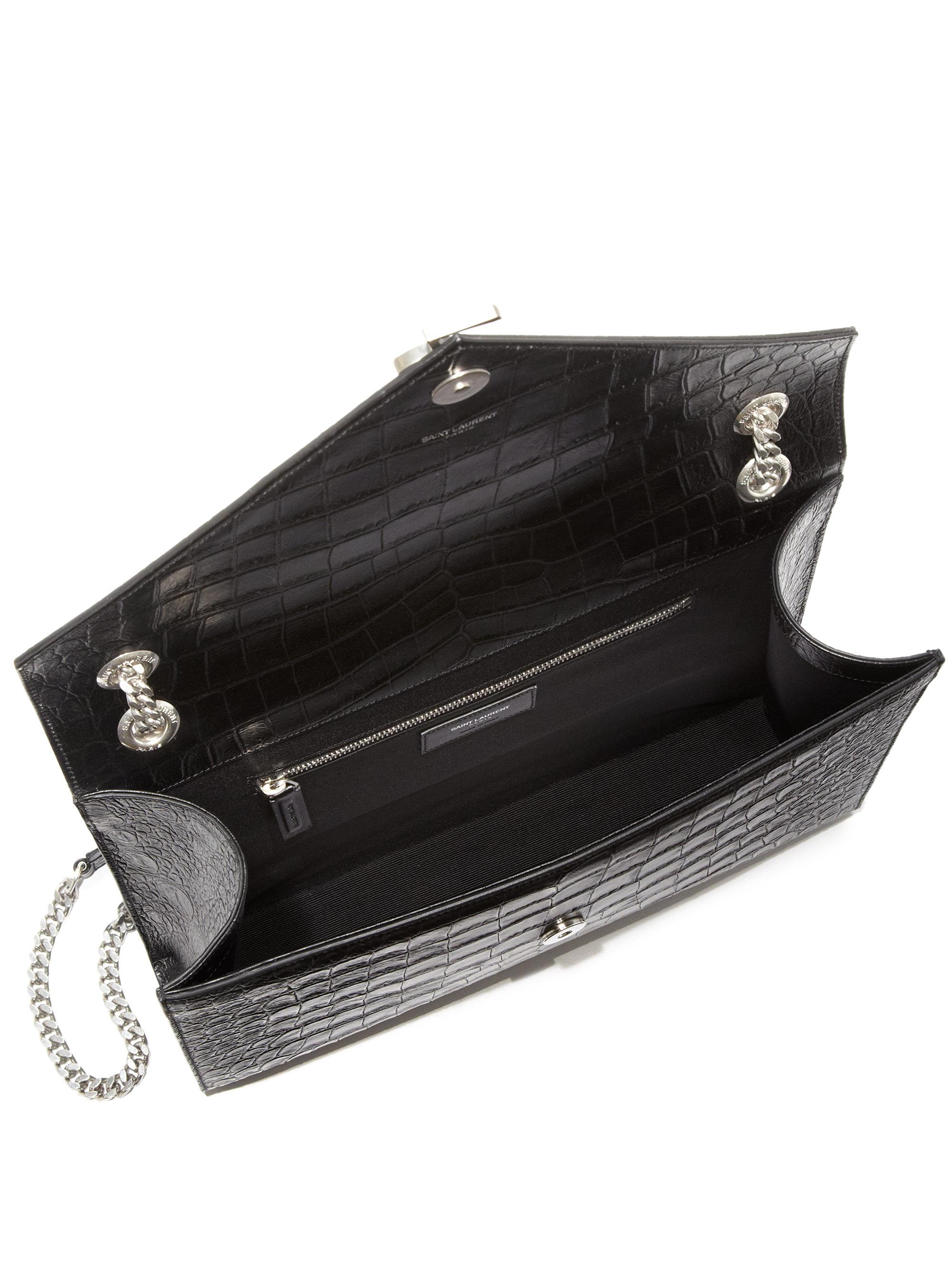 saint laurent kate monogram leather clutch bag