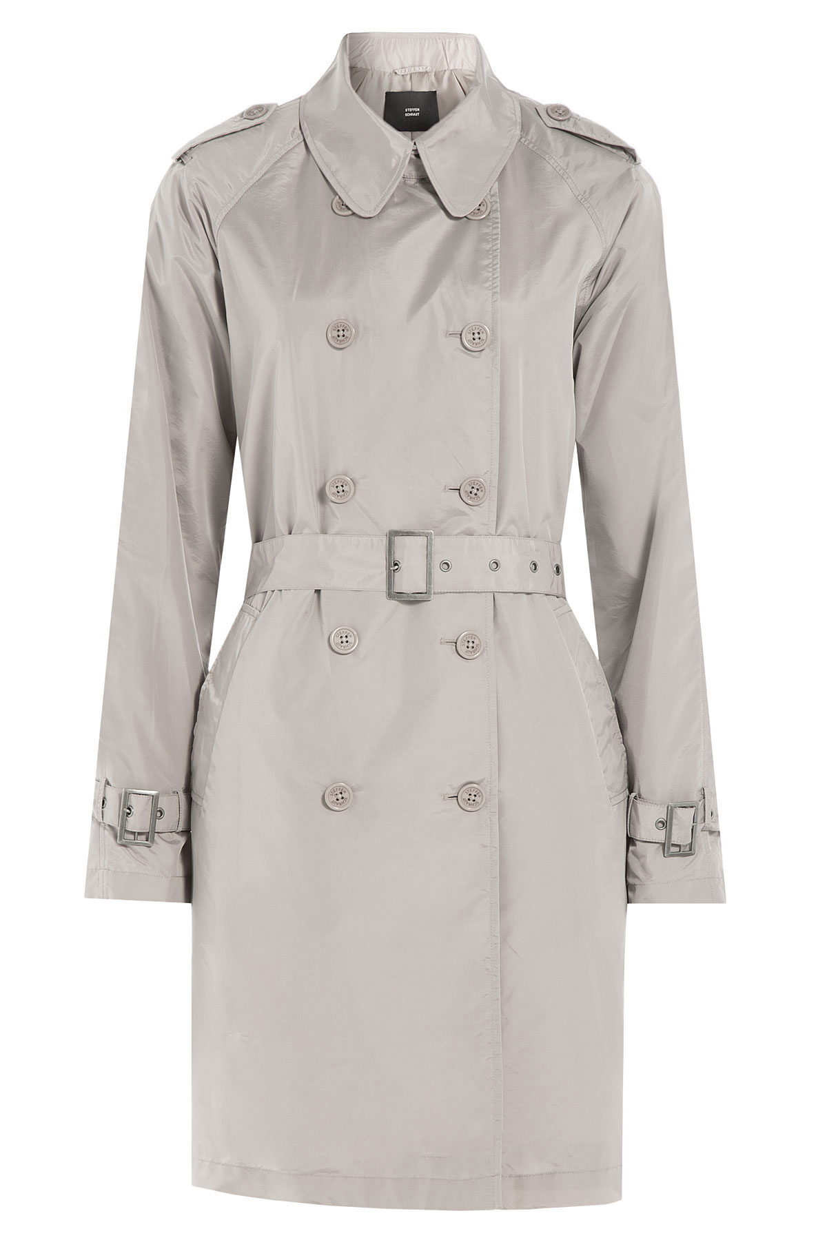 steffen schraut trench coat beige in gray lyst. Black Bedroom Furniture Sets. Home Design Ideas